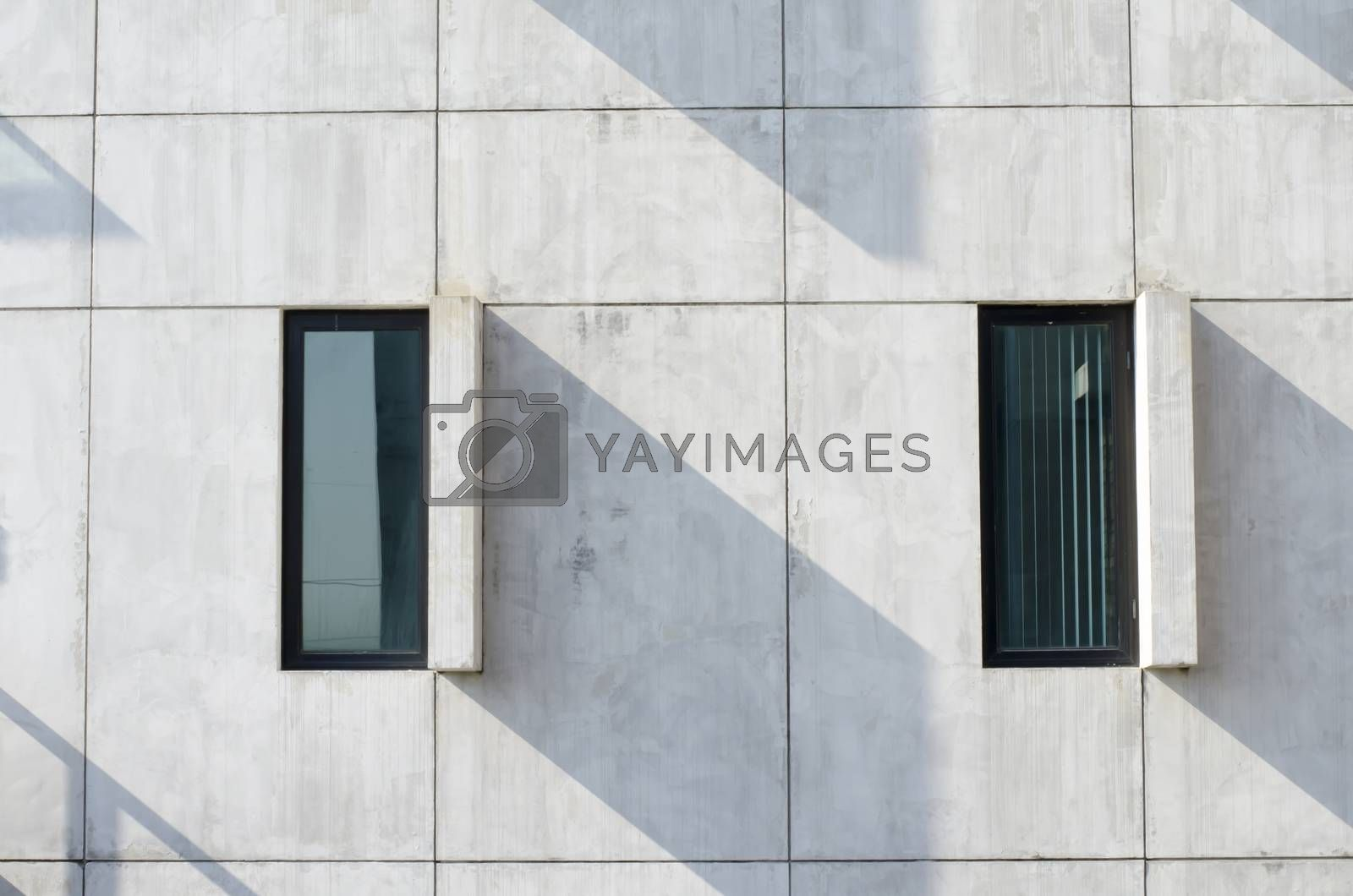 abstract modern windows with shadow