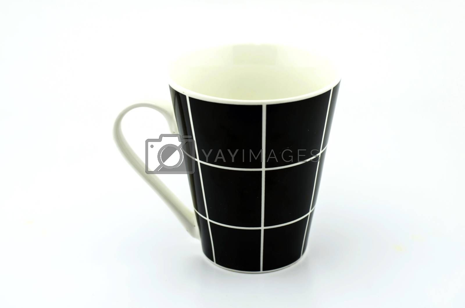 black isolated on white background
