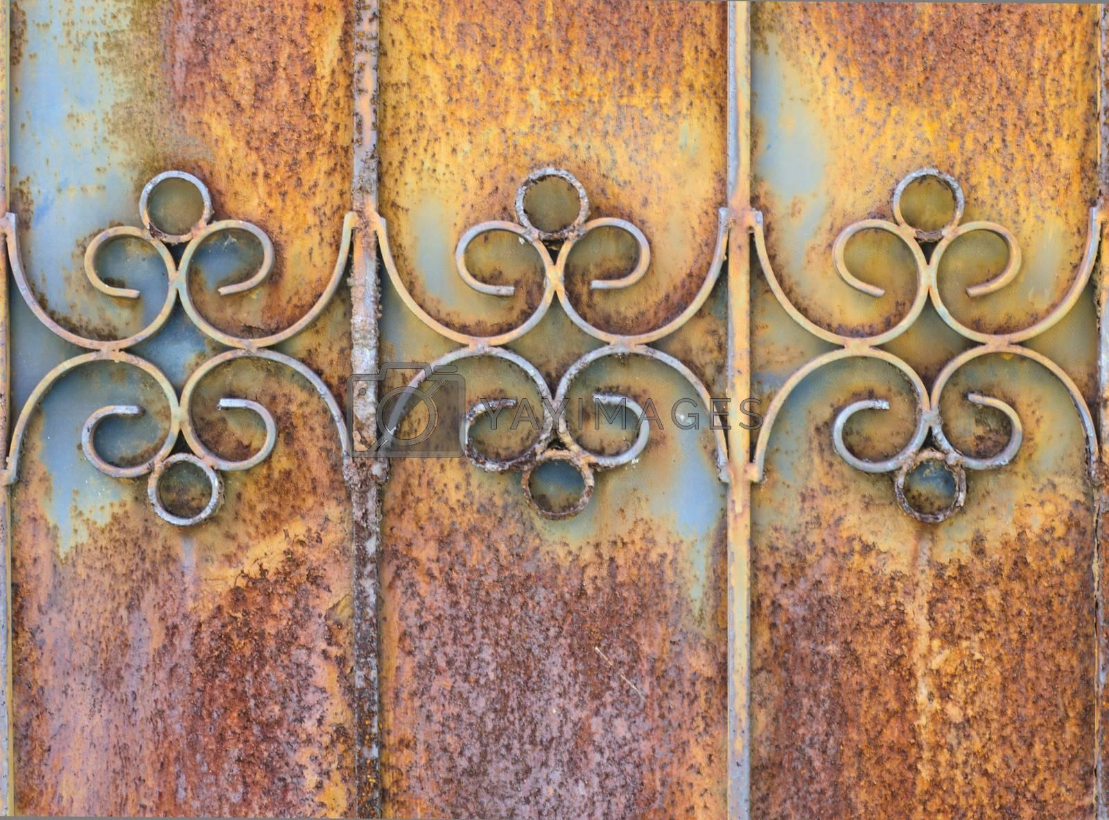 old rusty door texture background