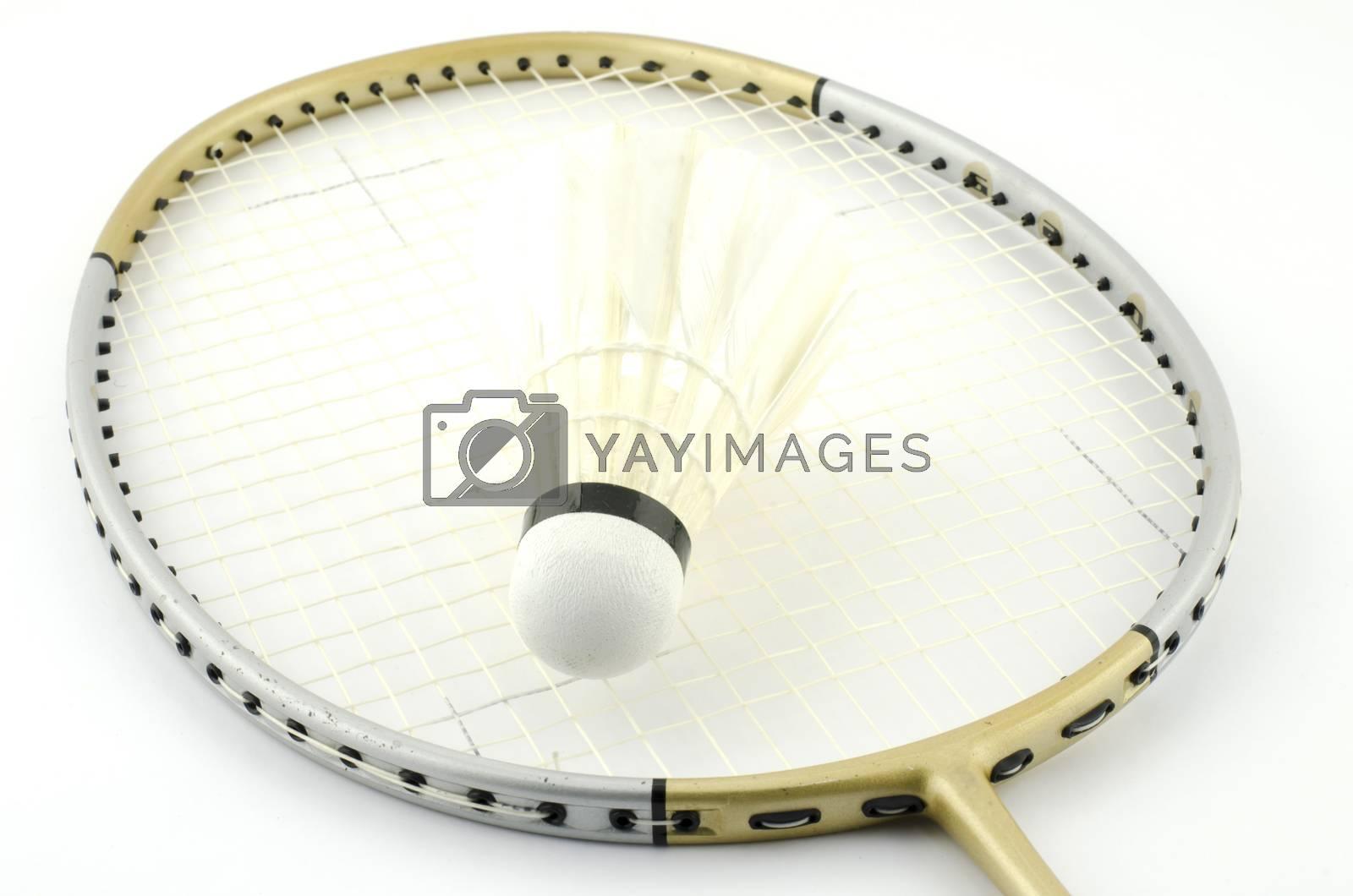badminton isolated on white background