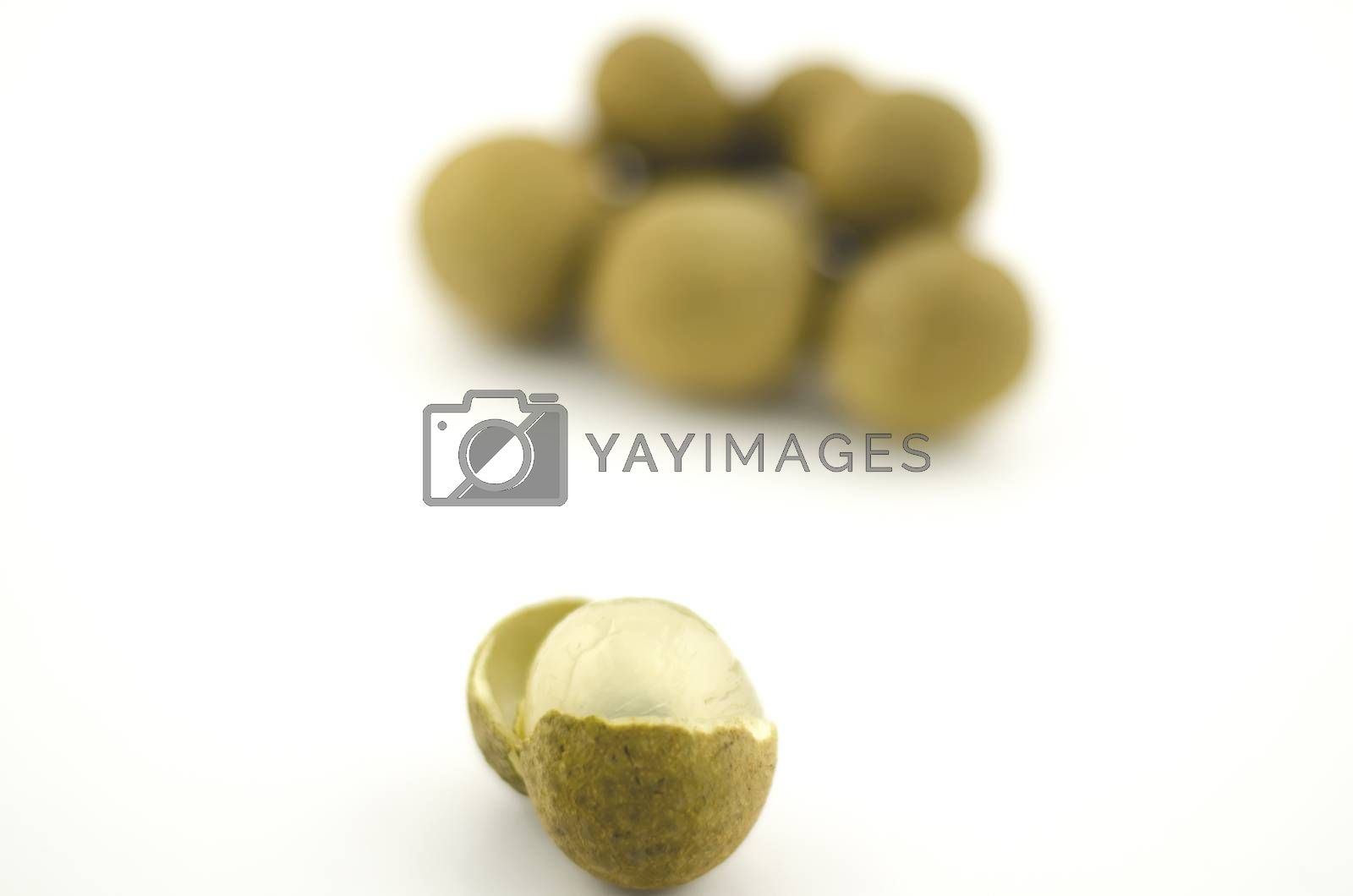longan isolated on white background