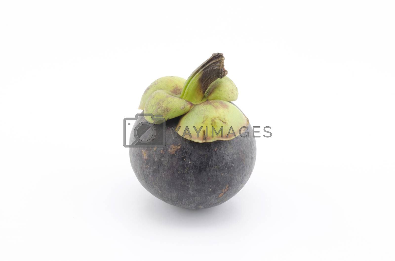mangosteen isolated on white background