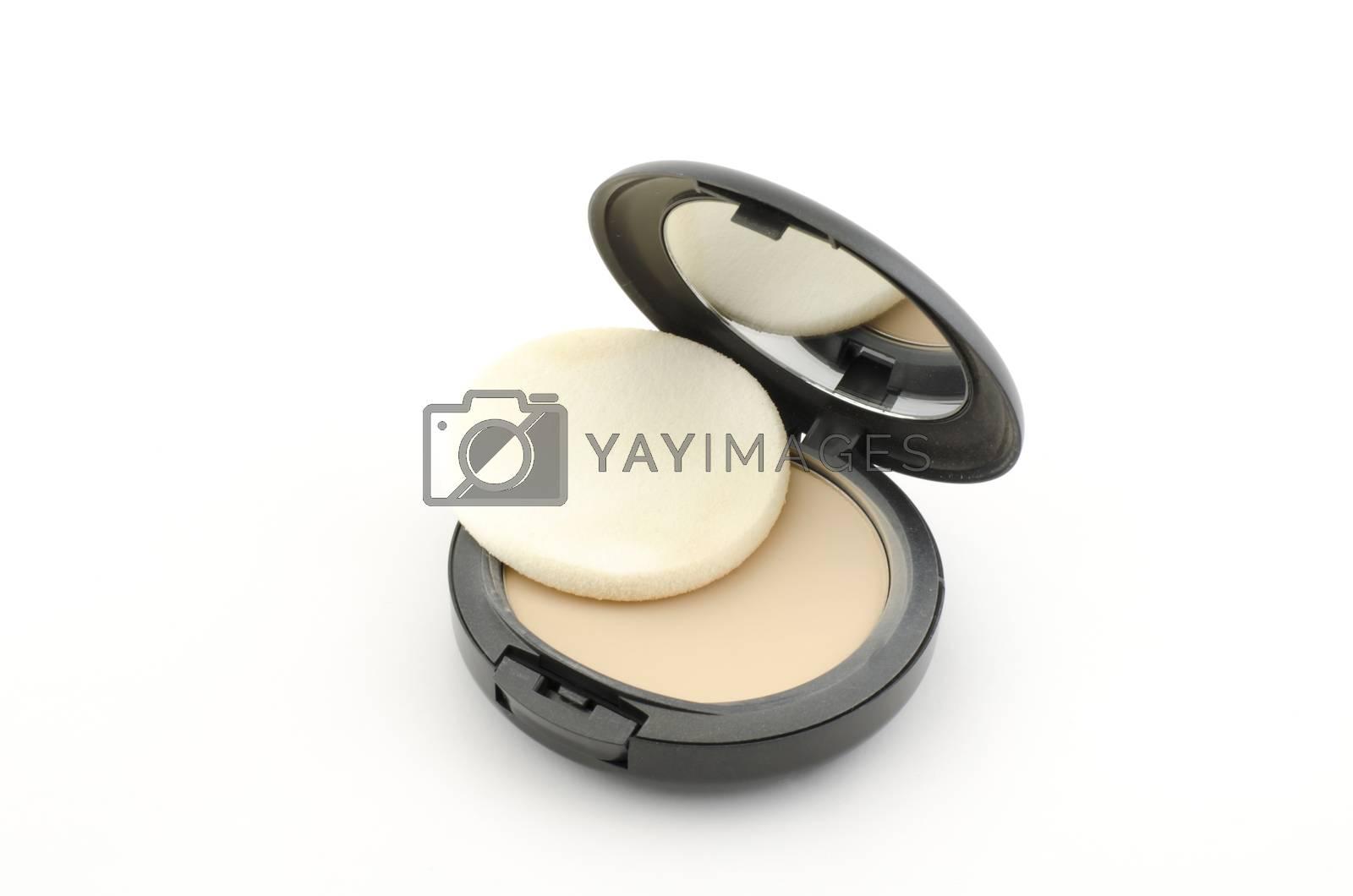 make up powder isolated on white background