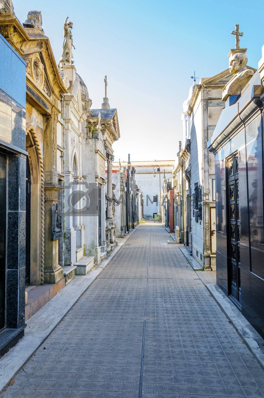 View of Recoleta Cemetery in Buenos Aires, Argentina