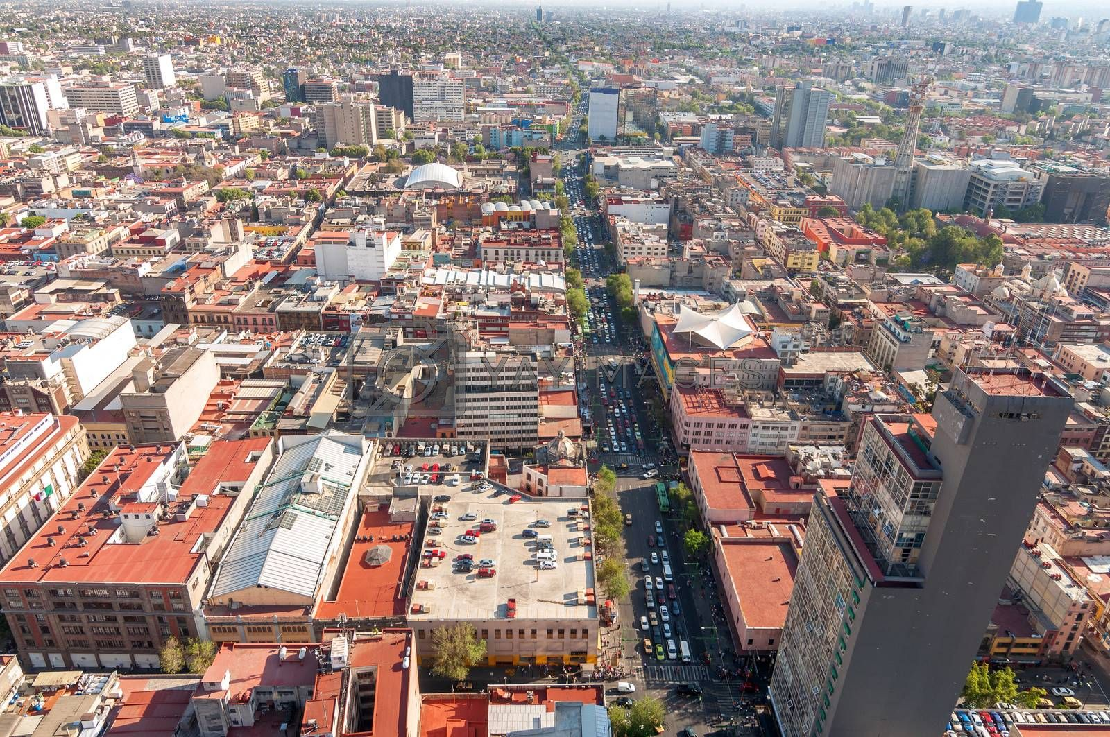 Wide angle view of Mexico City
