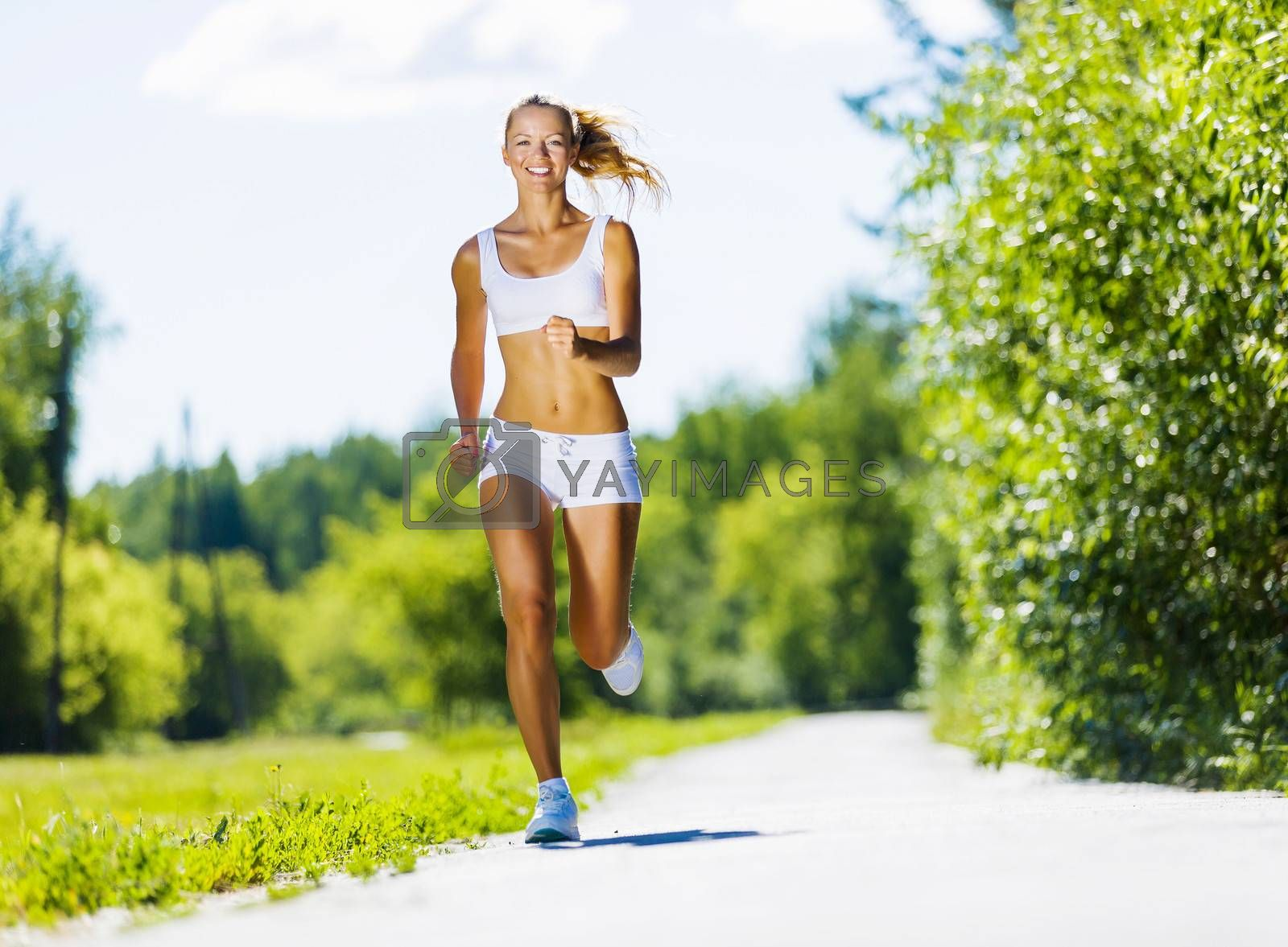 Royalty free image of Sport girl by Sergey Nivens