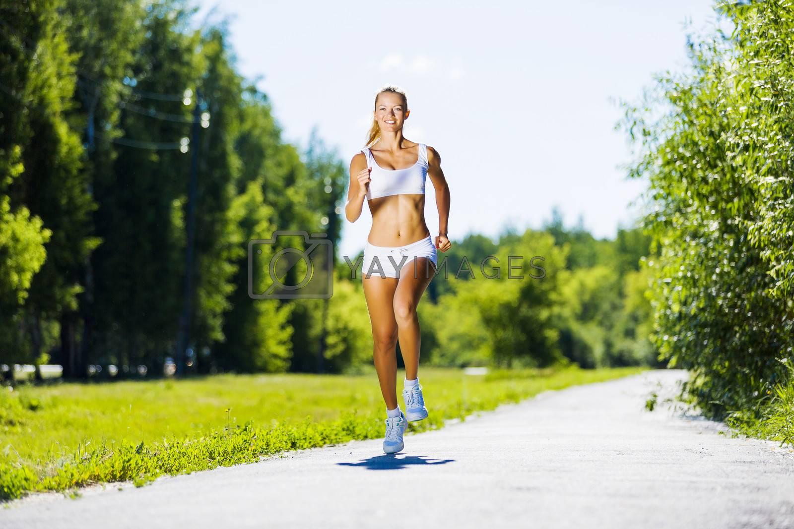 Sport girl by Sergey Nivens