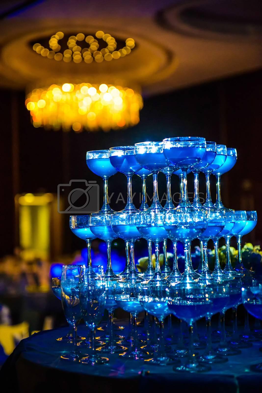 Decorated wedding celebration.