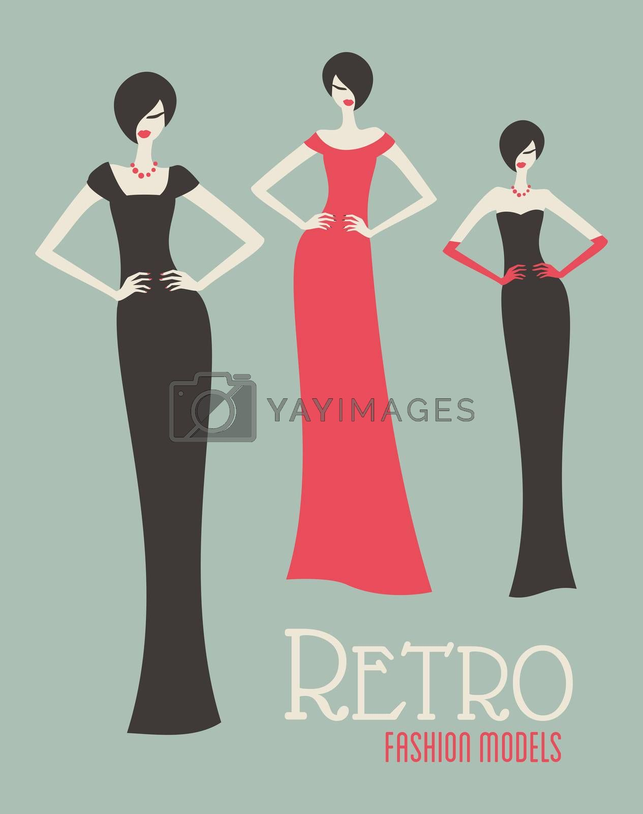 Retro Fashion Models by ivaleksa