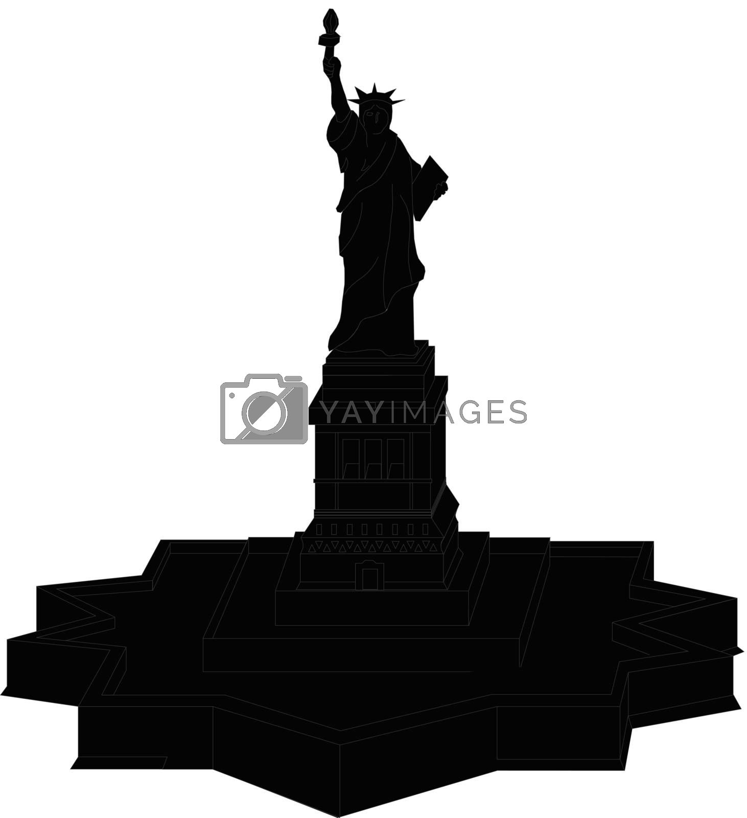 Statue Of Liberty Vector  Silhouette