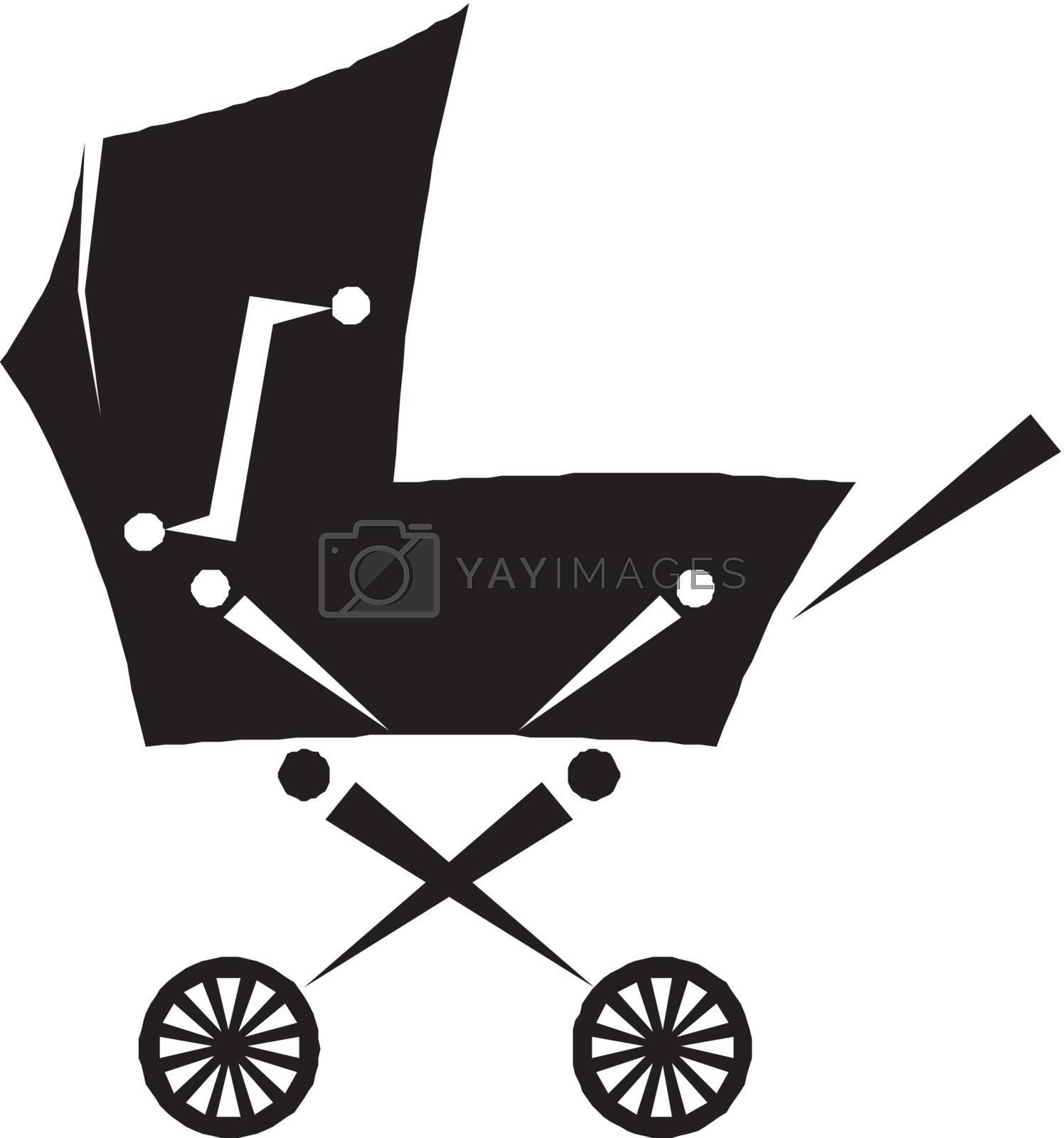 pram - baby carriage silhouette