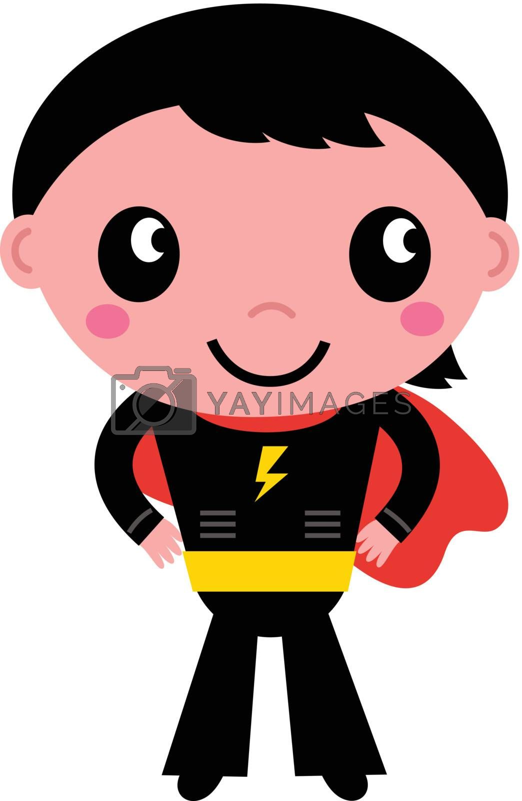 Royalty free image of Little cute superhero boy isolated on white by Lordalea