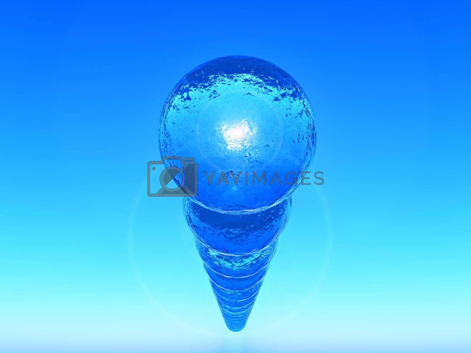 range of blue sphere