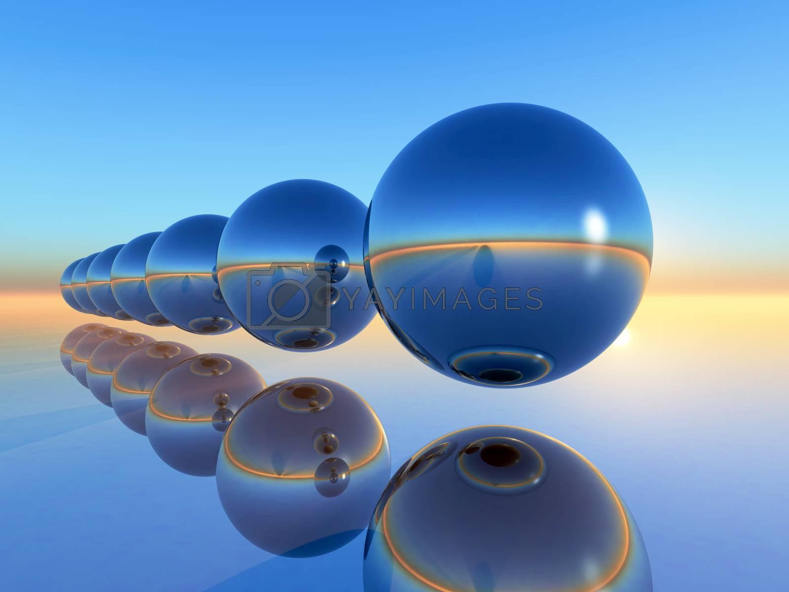 range of sphere in 3D rendering