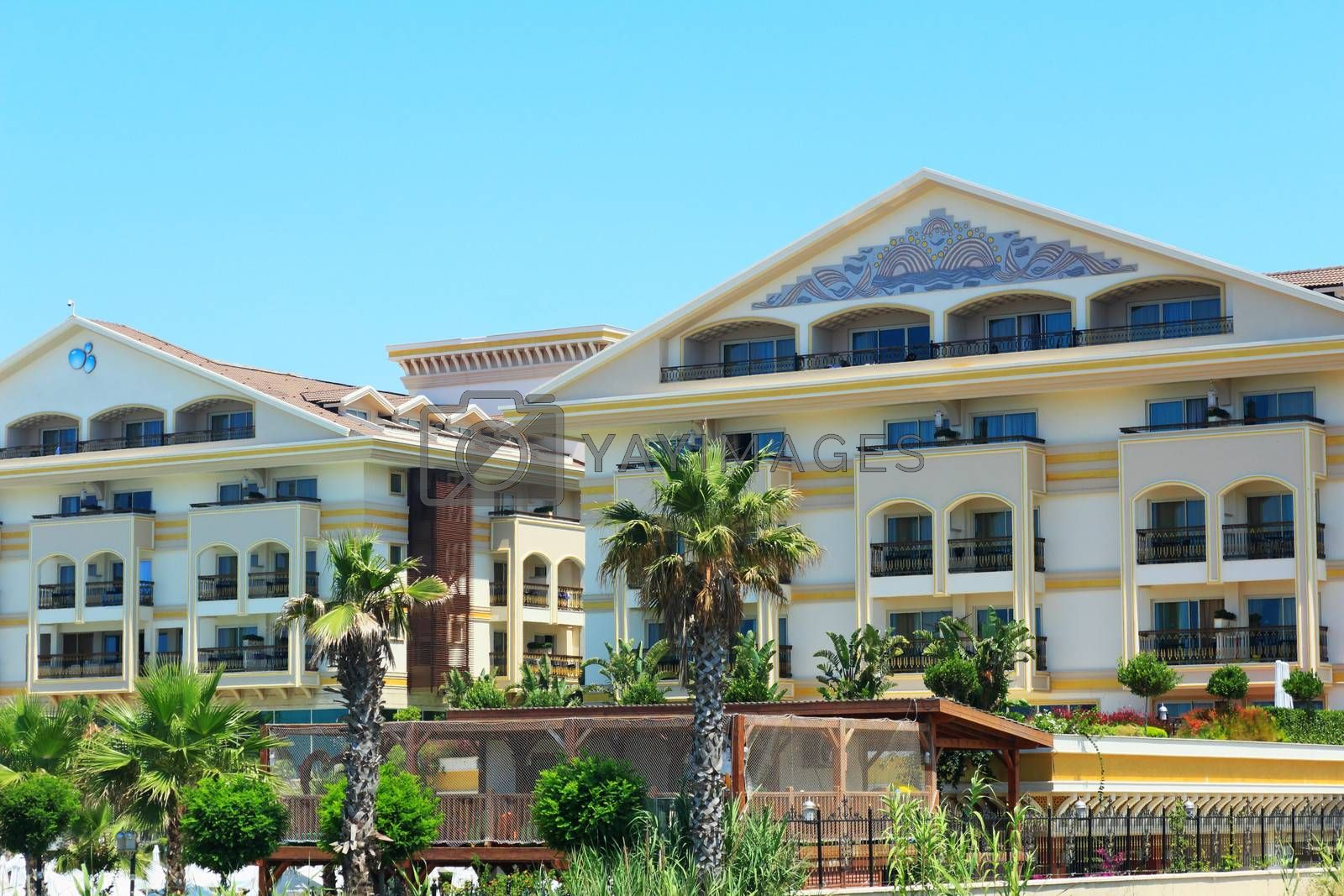 Modern and comfortable resort located on the sea coast.