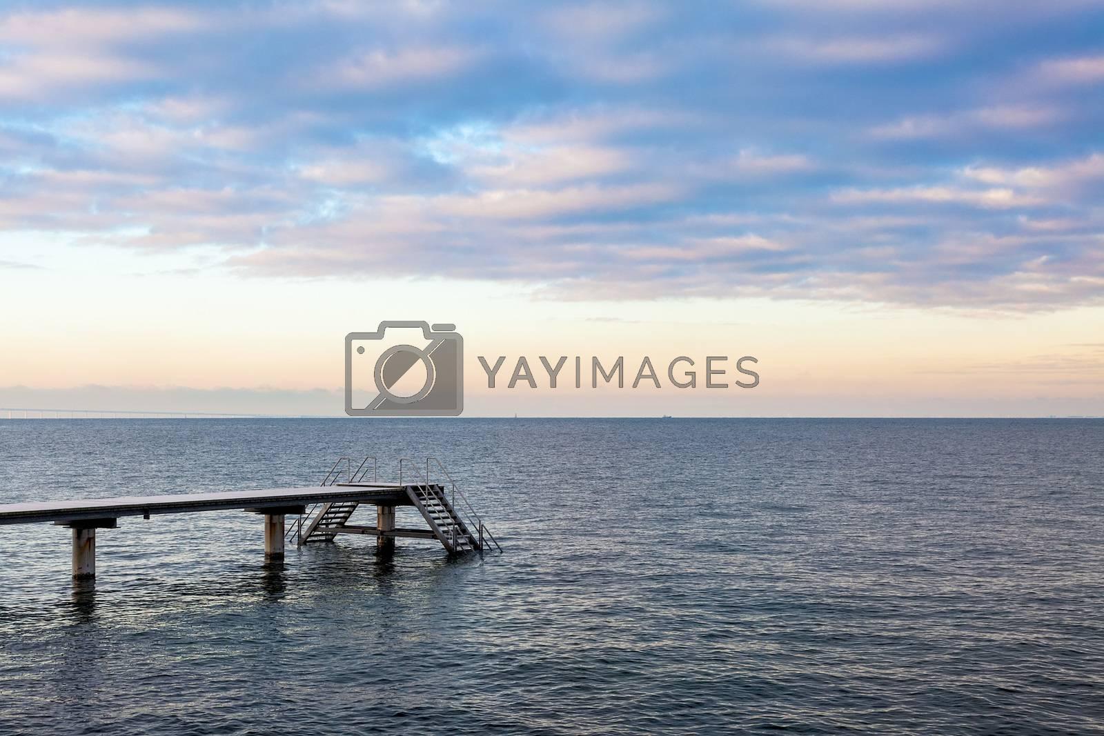 Royalty free image of Pier at Øresund by ajn