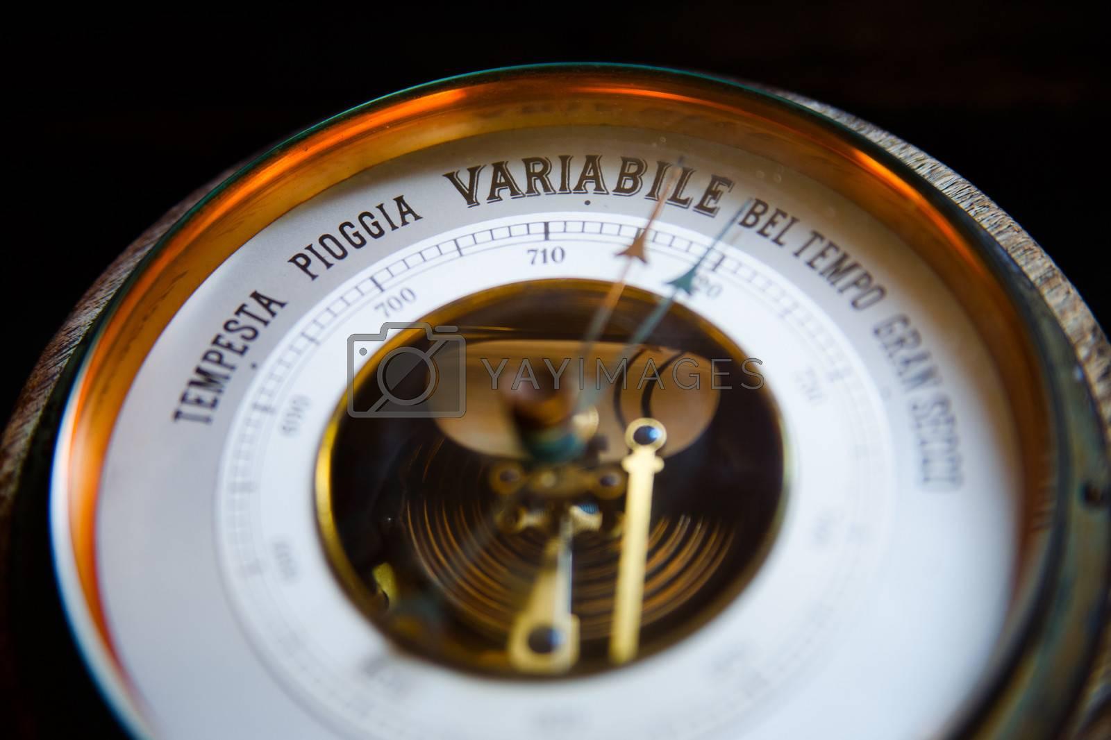 Photo of a old vinage barometer