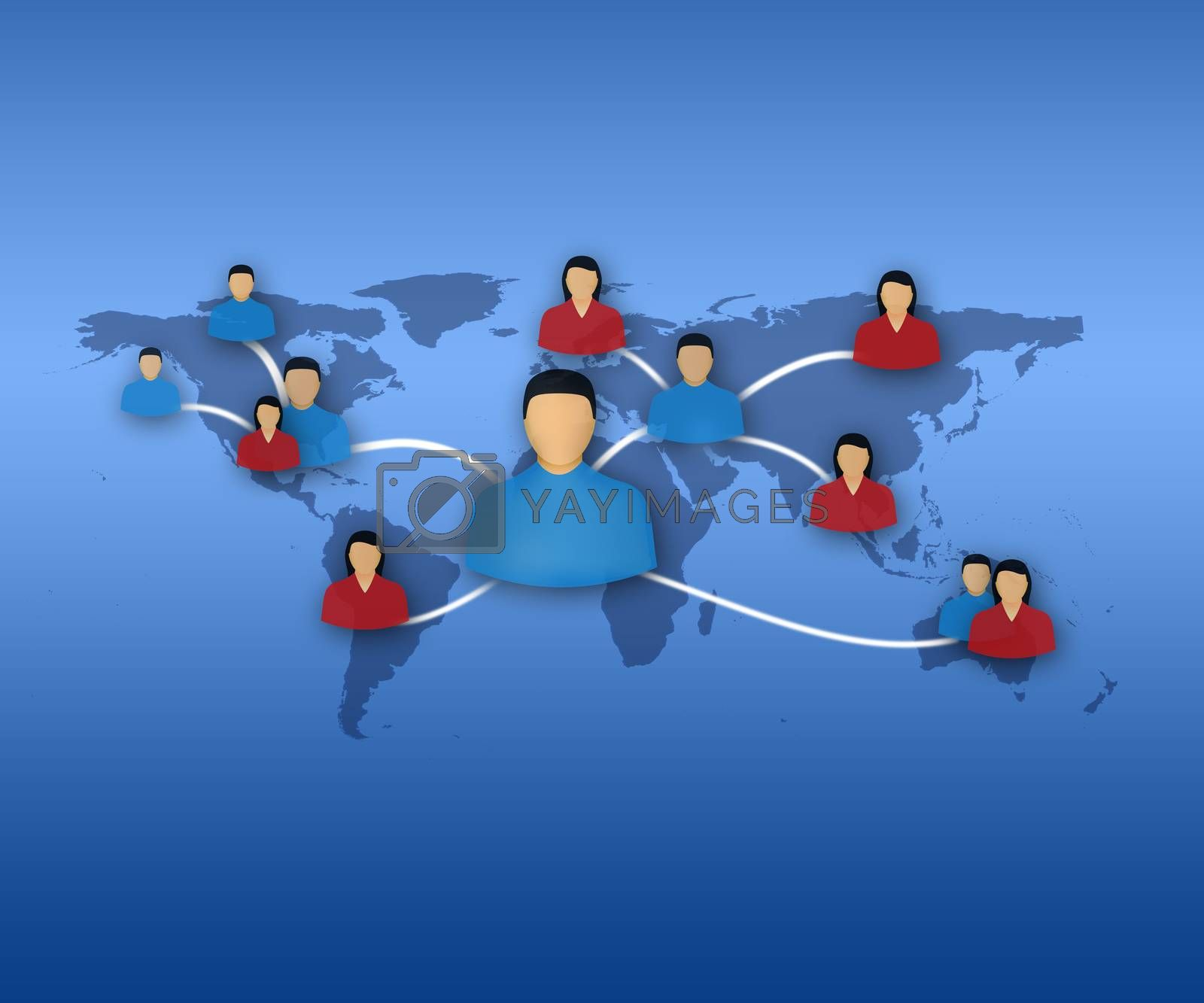 New technology of communication between people from various continents
