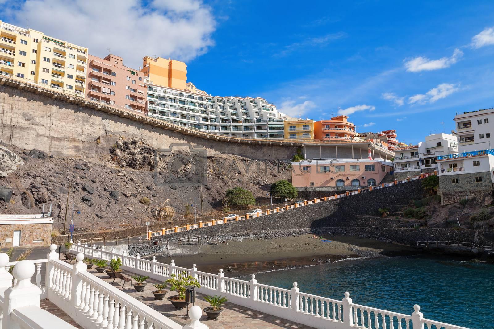 View of Puerto de Santiago. Tenerife, Canary Islands, Spain