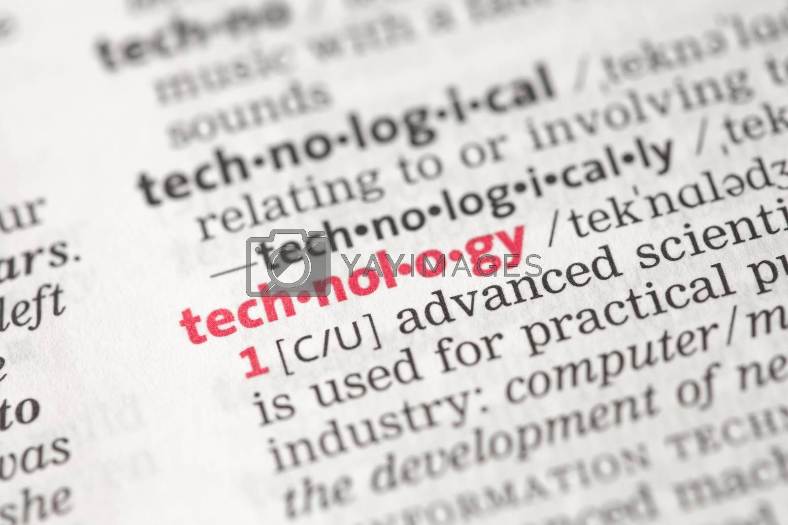 Technology definition in the dictionary