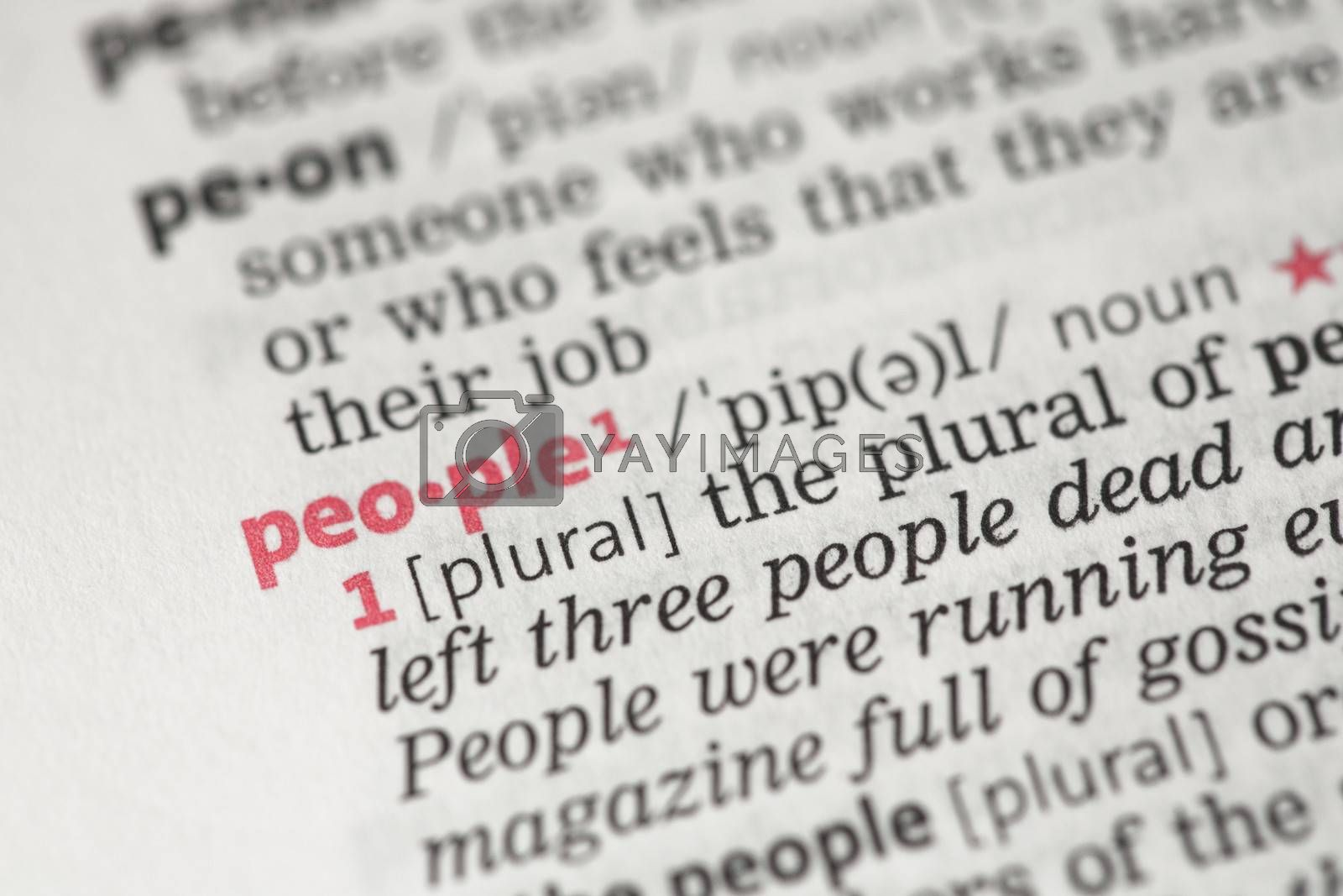 People definition by Wavebreakmedia