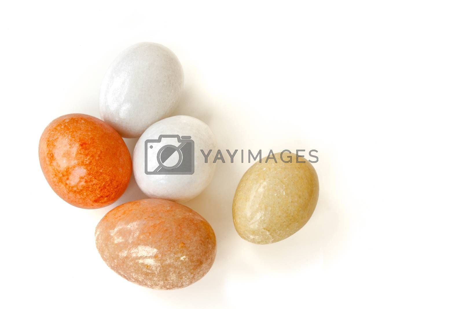 colorful stone with egg shaped