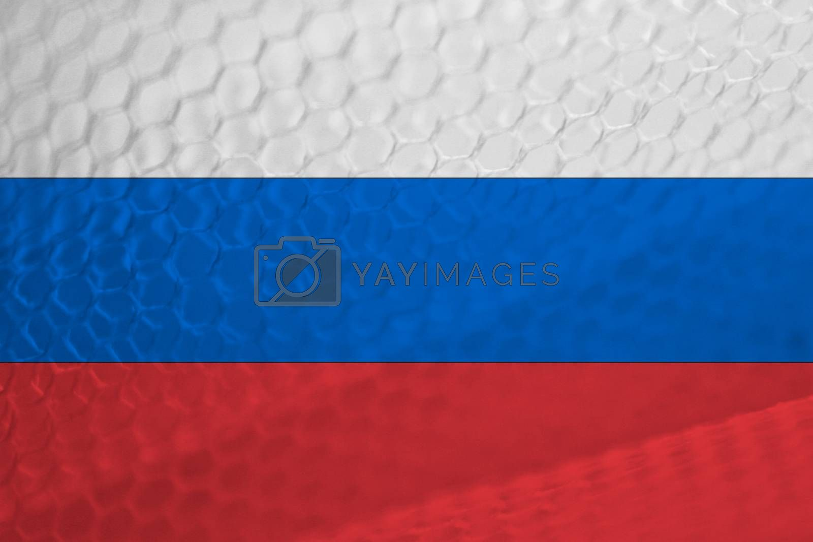 Russian flag abstract