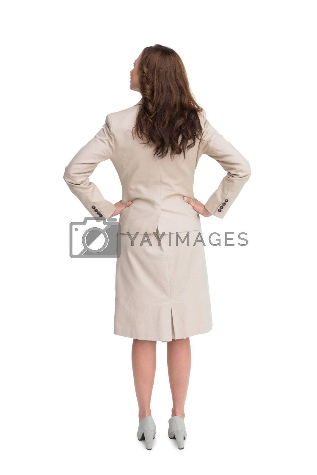Rear view of businesswoman standing  by Wavebreakmedia