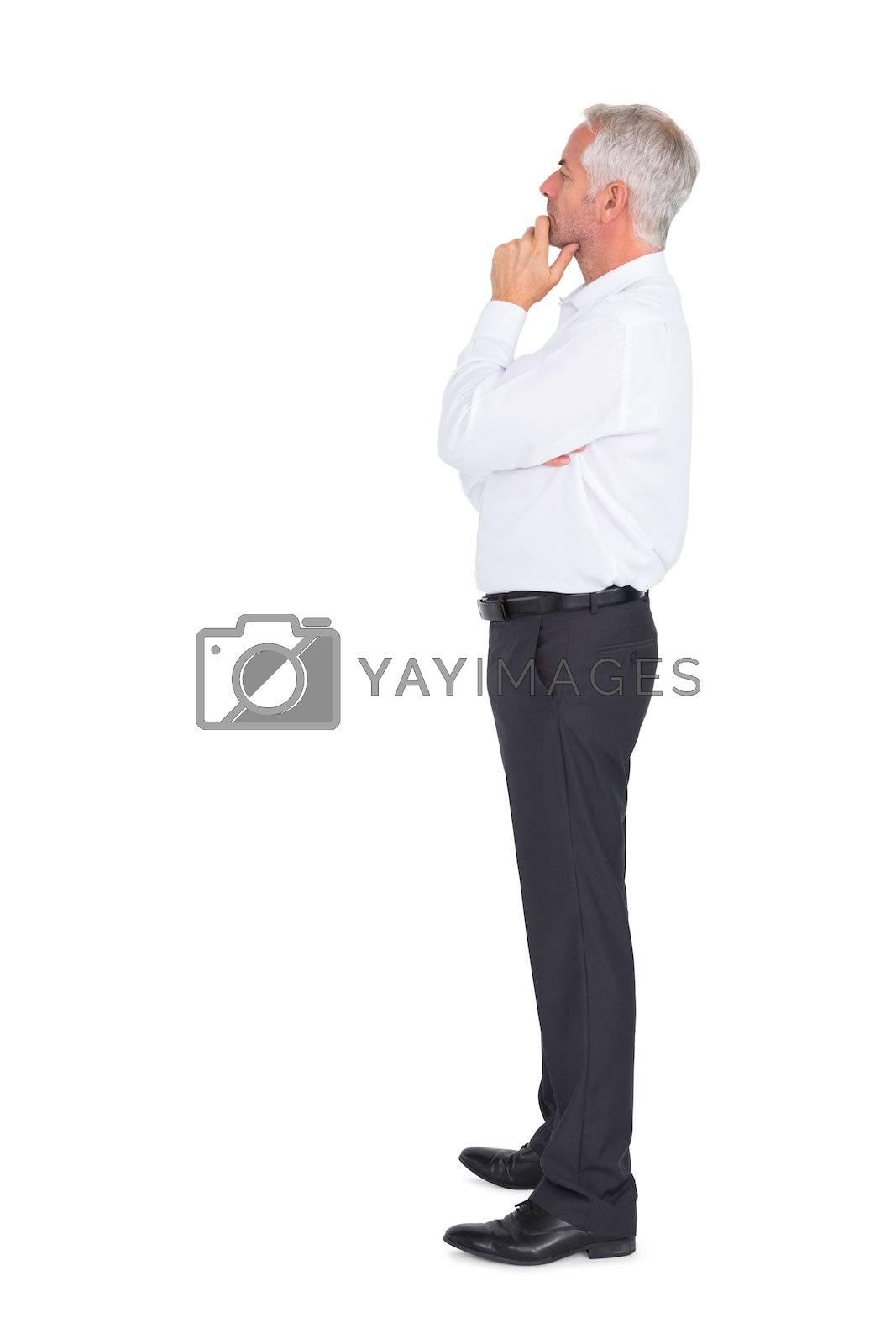 Thoughtful businessman posing by Wavebreakmedia