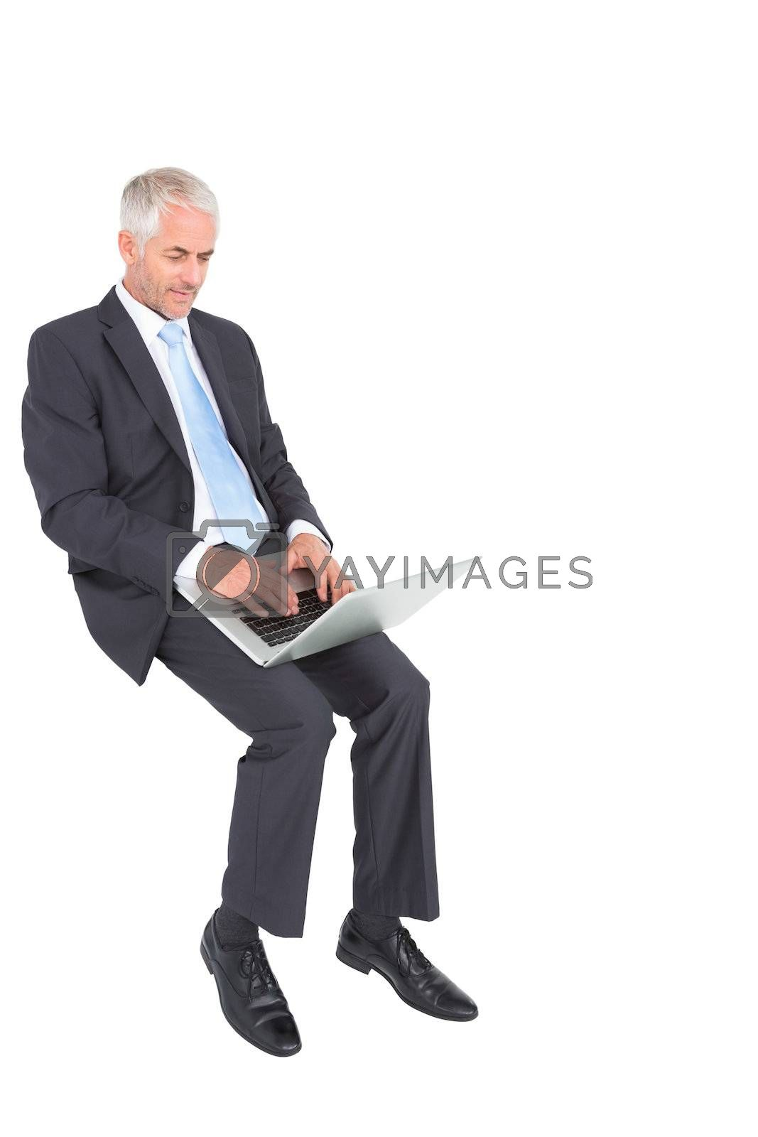 Mature businessman typing on his laptop by Wavebreakmedia