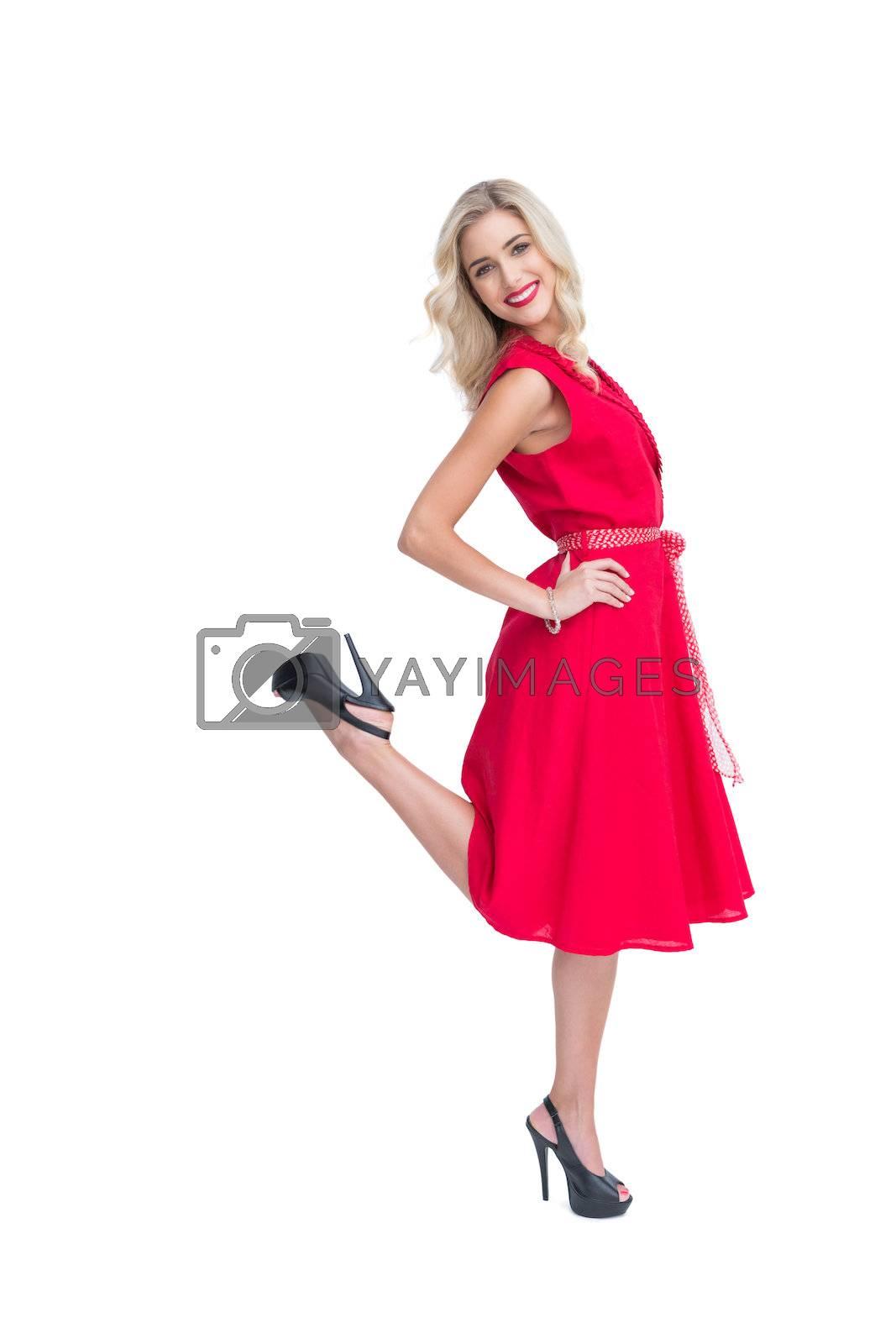 Blonde glamorous woman smiling at camera by Wavebreakmedia