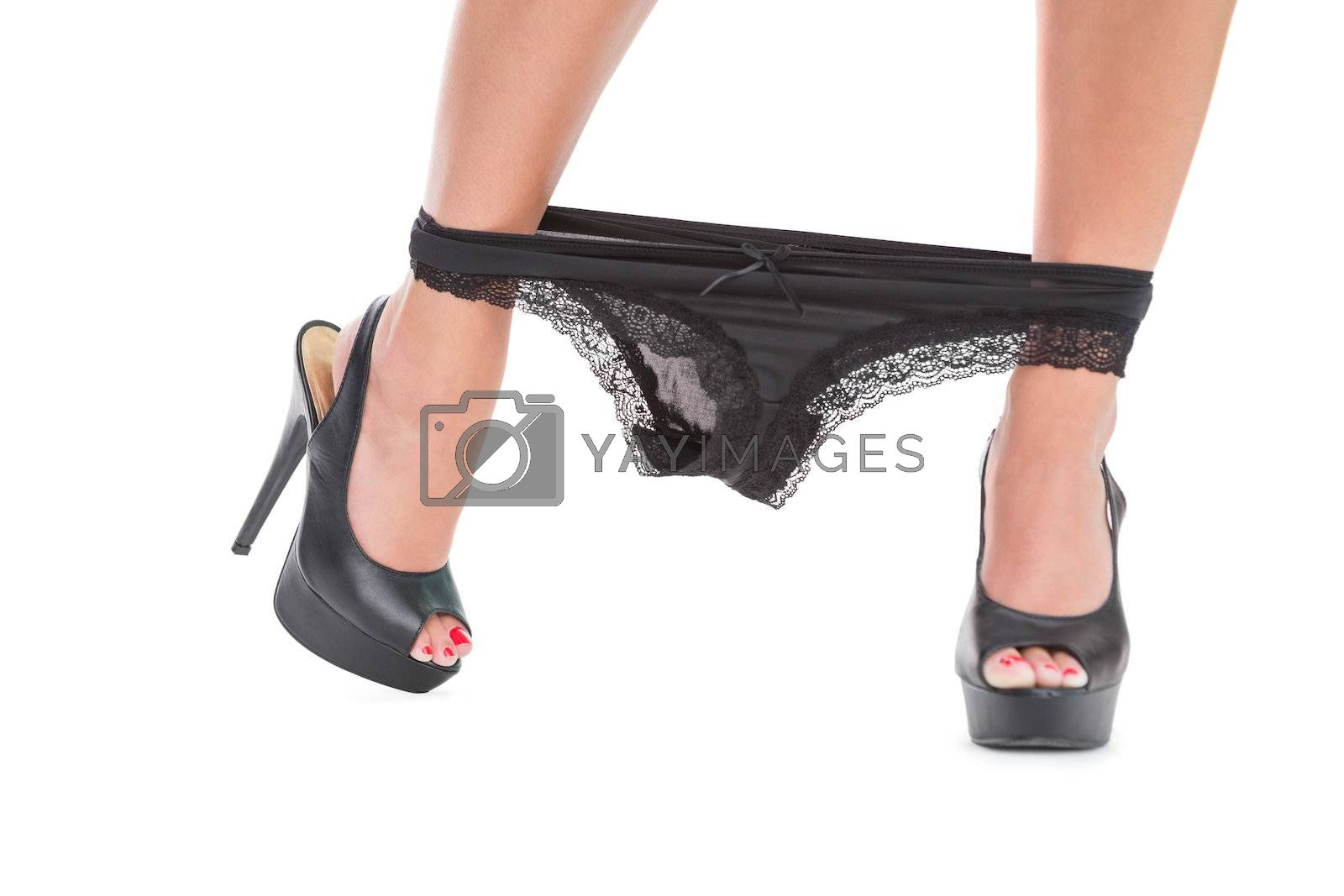 Close up on feminine pants on womans ankle by Wavebreakmedia
