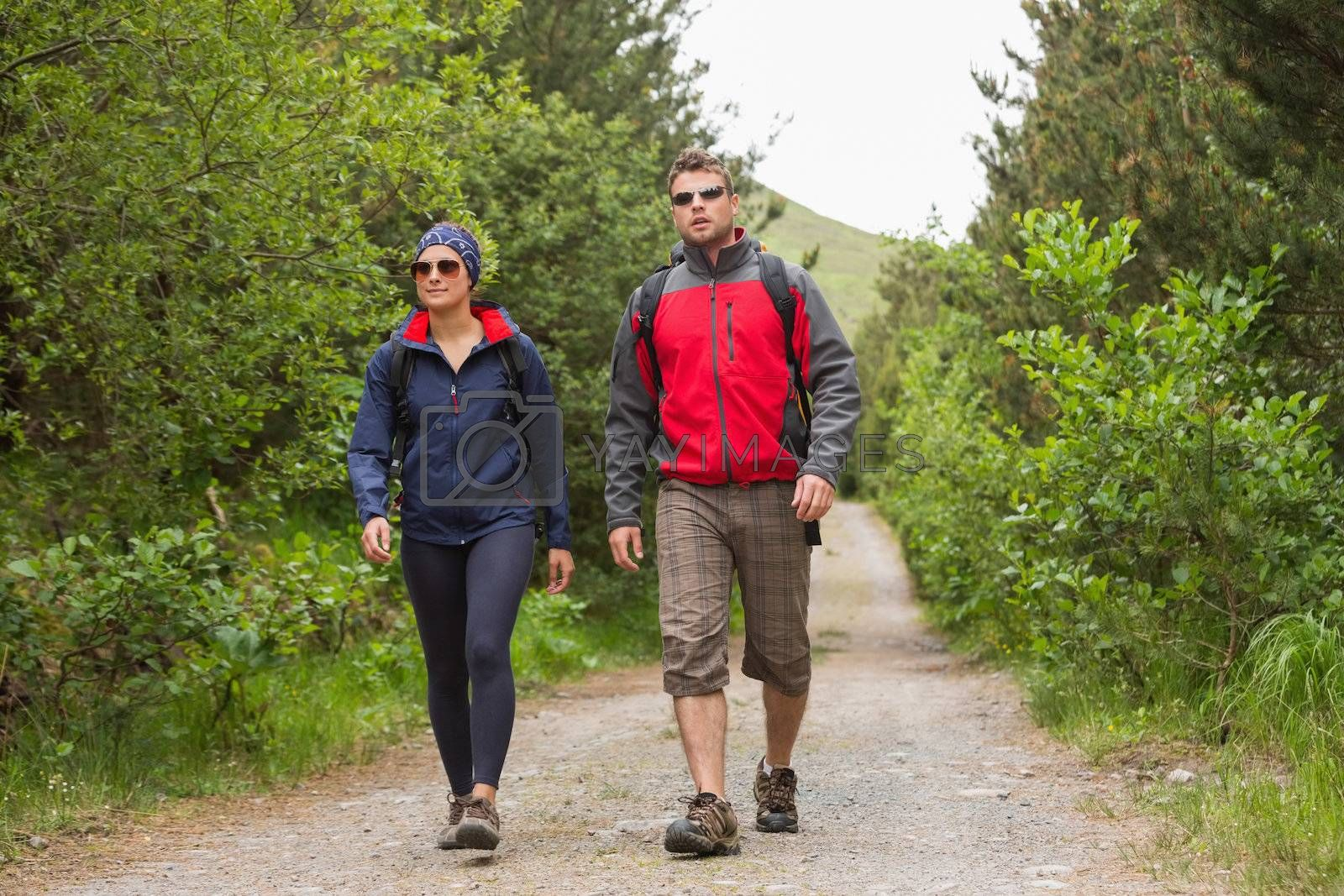 Couple going on hike together by Wavebreakmedia