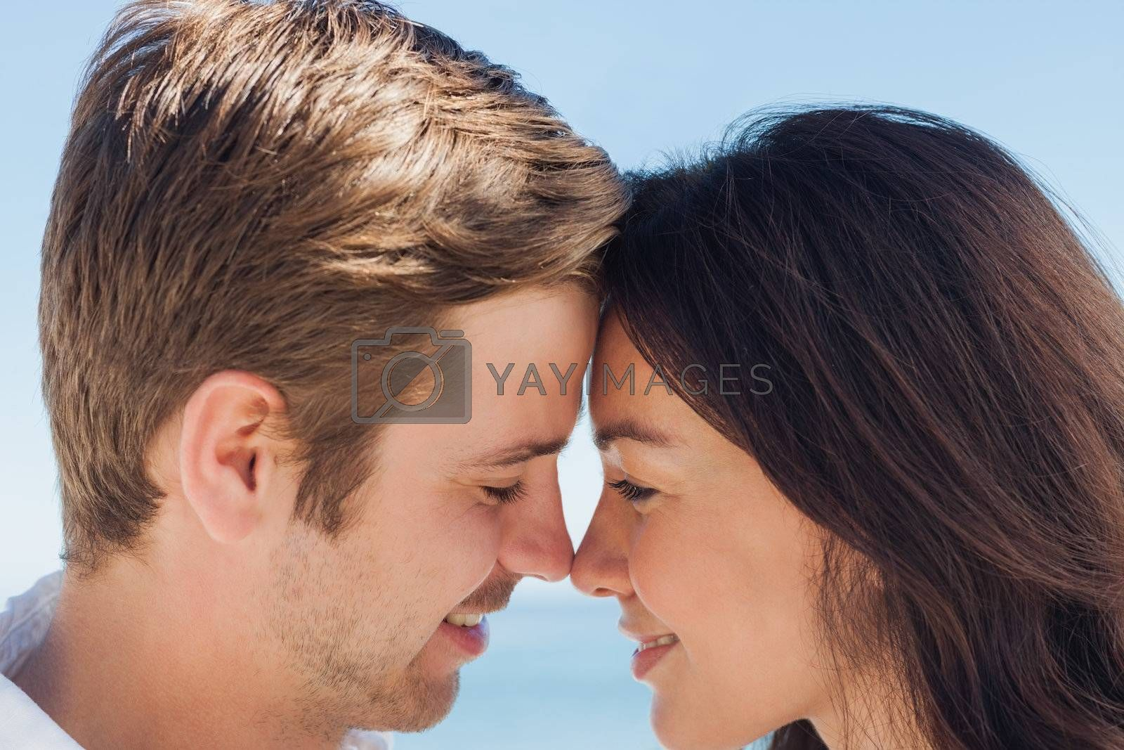 Close up view of romantic couple by Wavebreakmedia