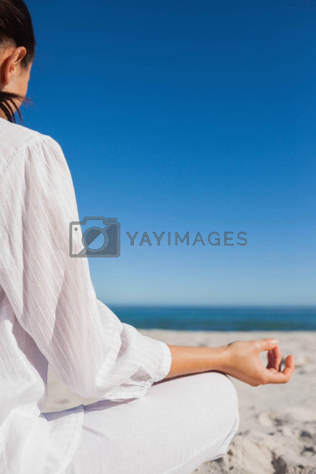Brunette woman doing yoga by Wavebreakmedia