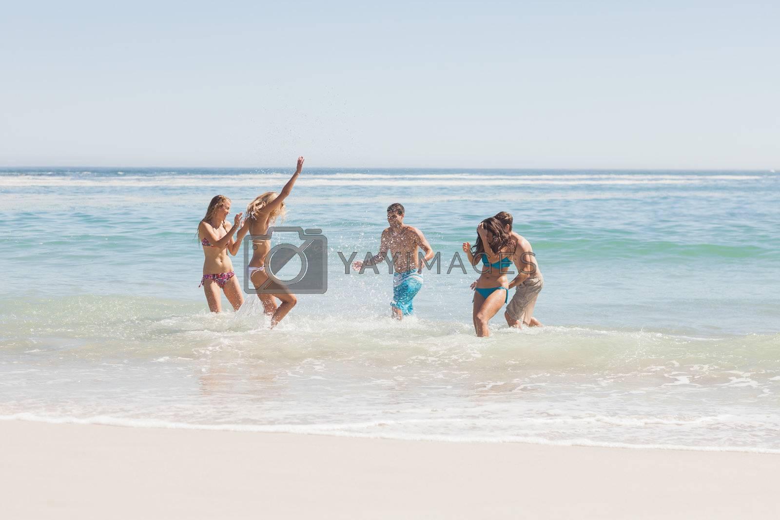 Group of friends having fun on the beach by Wavebreakmedia