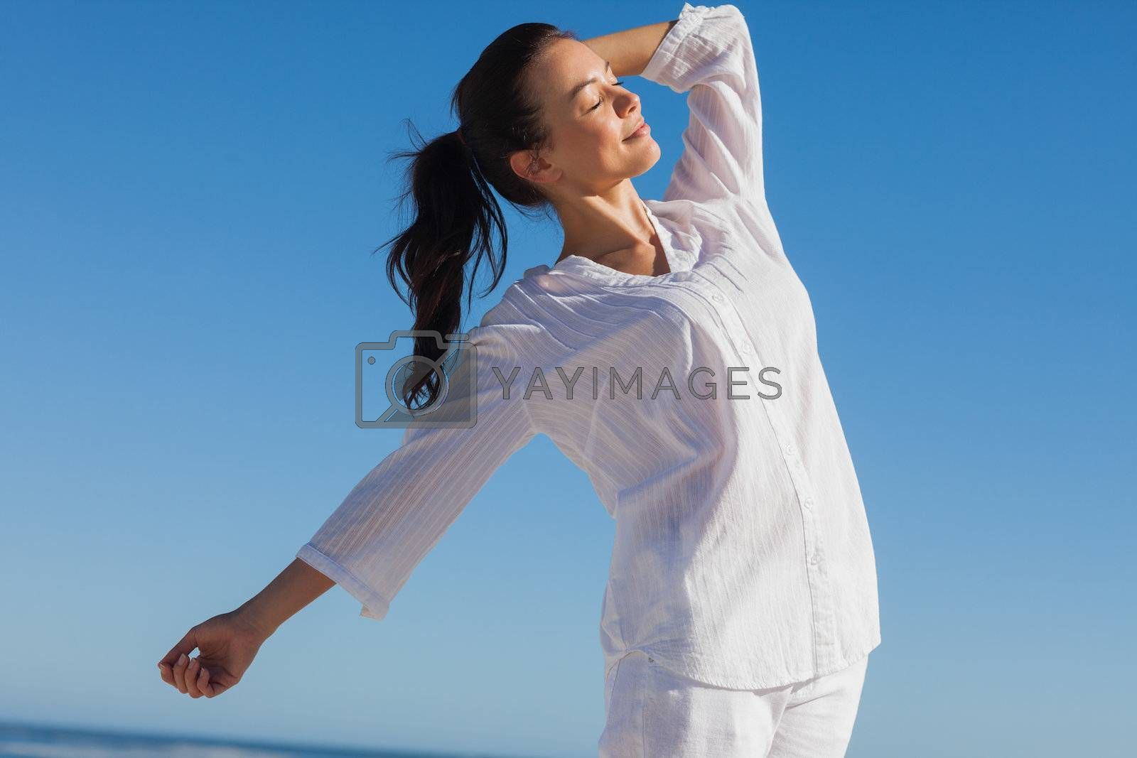 Close up view of woman enjoying the sun by Wavebreakmedia