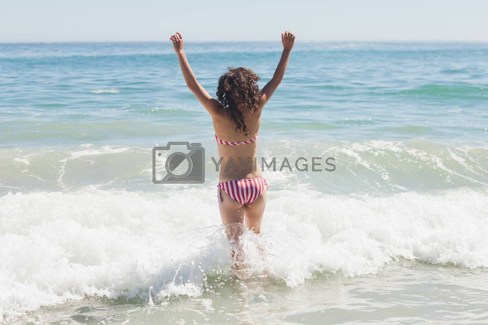 Beautiful woman on the beach by Wavebreakmedia
