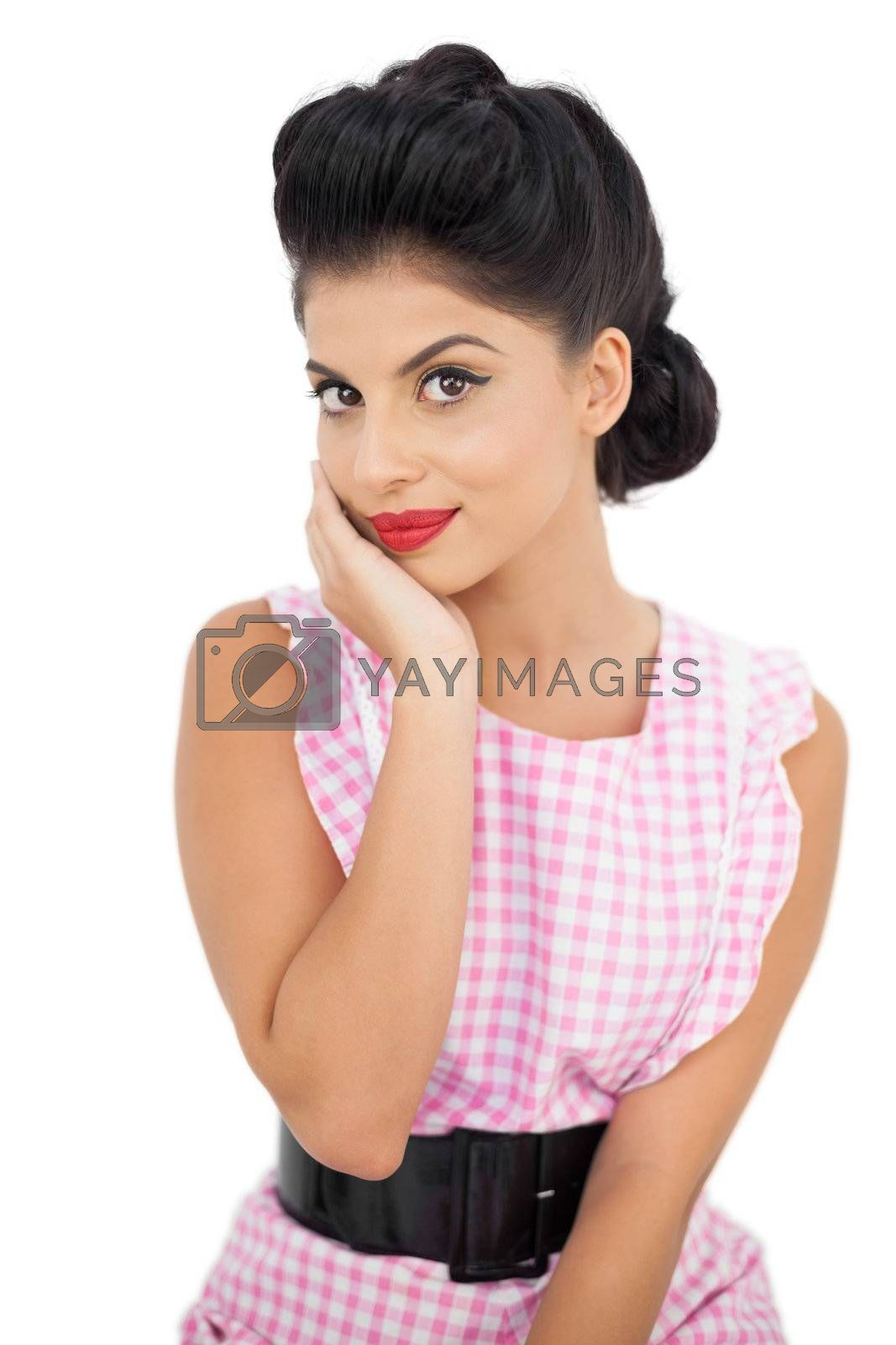Pretty black hair model looking  by Wavebreakmedia