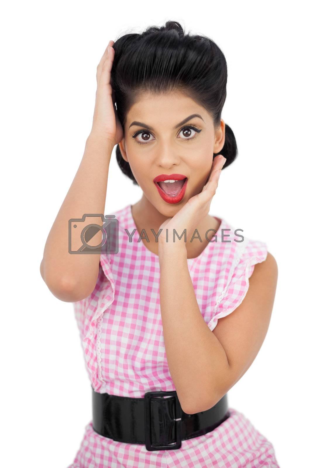Stylish black hair model looking at camera by Wavebreakmedia