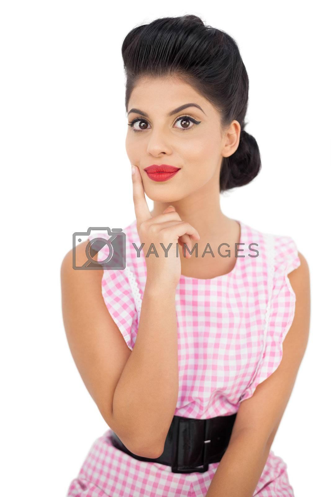 Amused black hair model looking at camera by Wavebreakmedia
