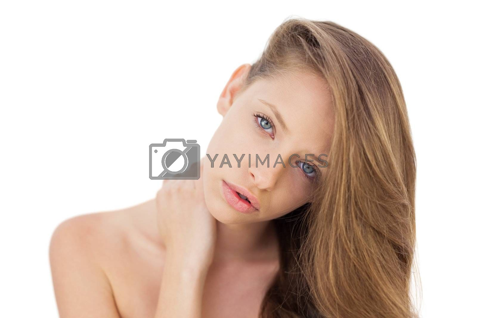 Attractive brunette model looking at camera by Wavebreakmedia