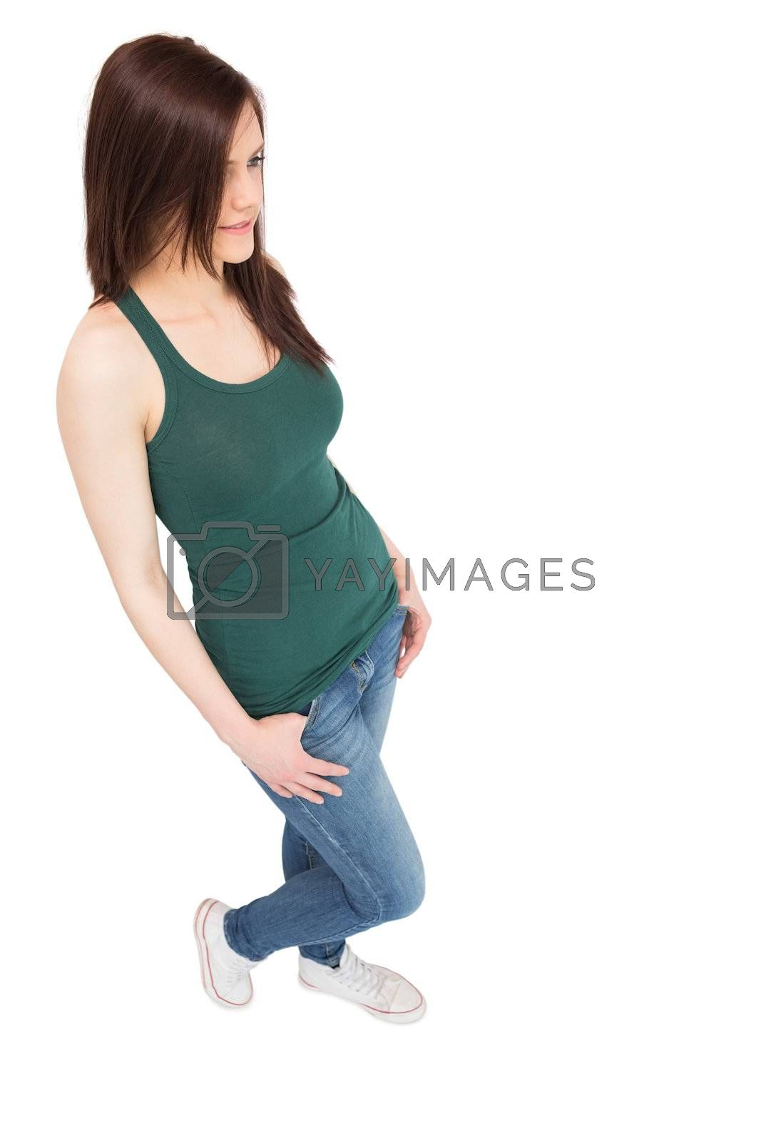 Content casual woman posing by Wavebreakmedia