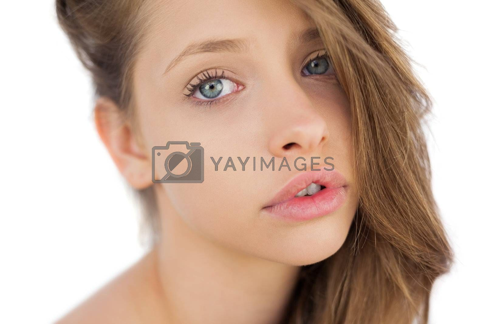 Lovely brunette model posing looking at camera by Wavebreakmedia