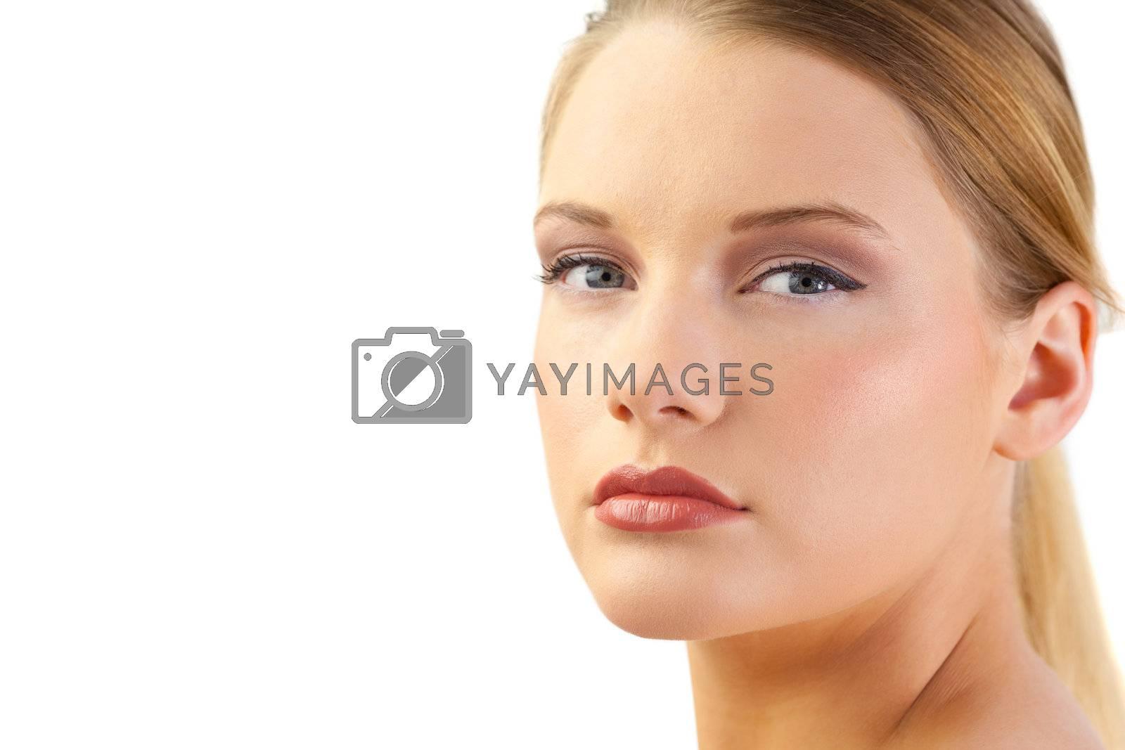Gorgeous blond model posing by Wavebreakmedia