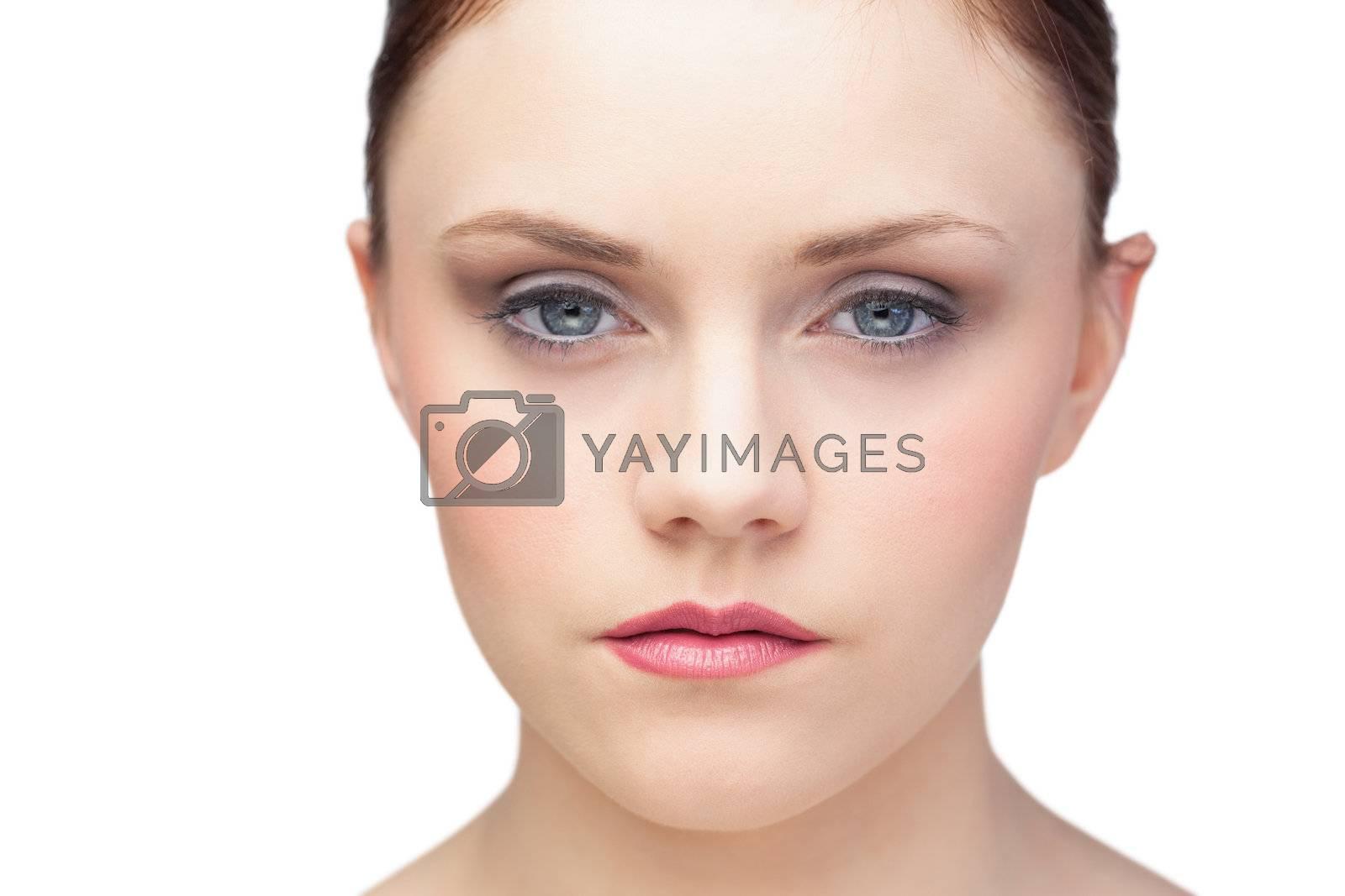 Thinking fresh brunette posing by Wavebreakmedia