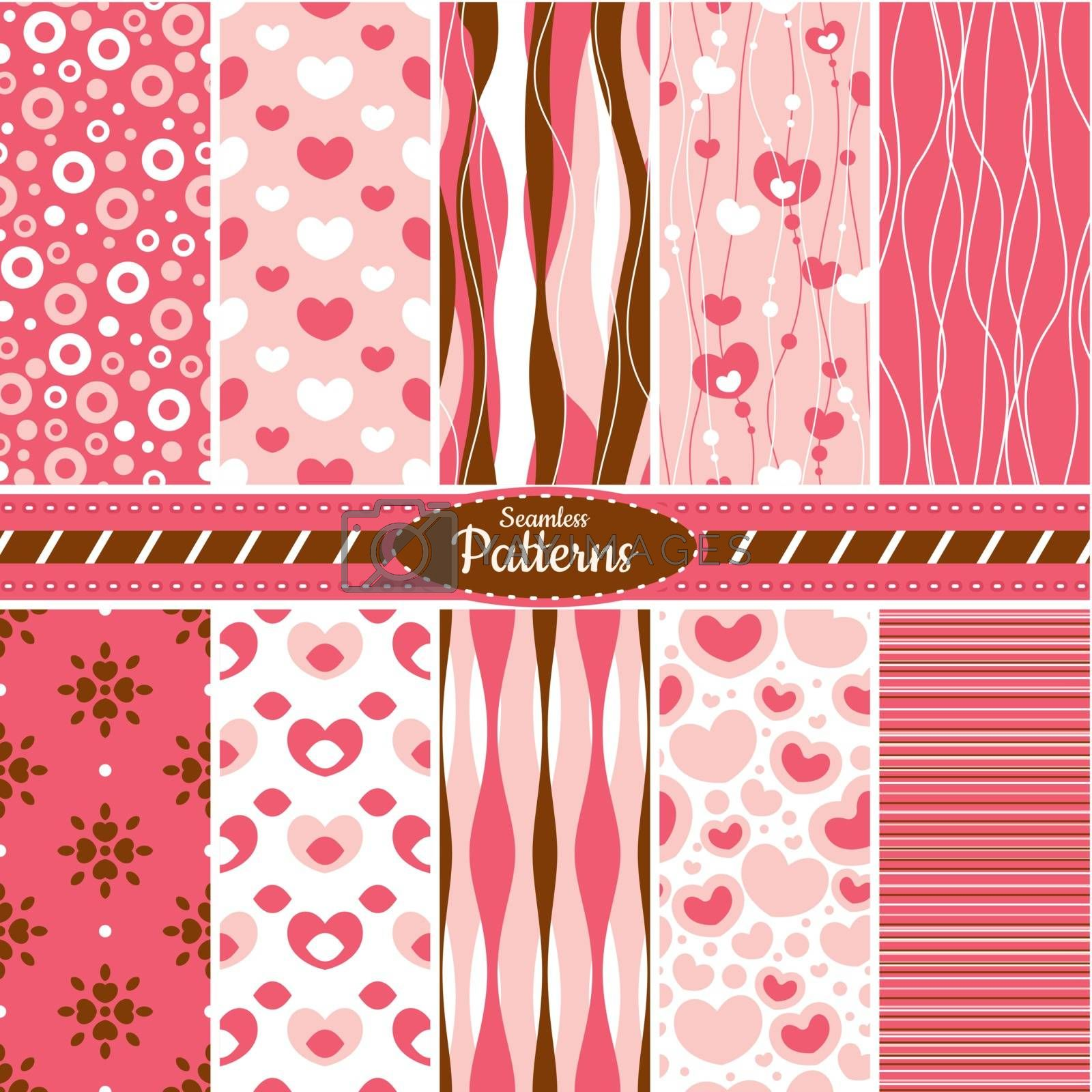 Collection of seamless pattern backgrounds by SelenaMay