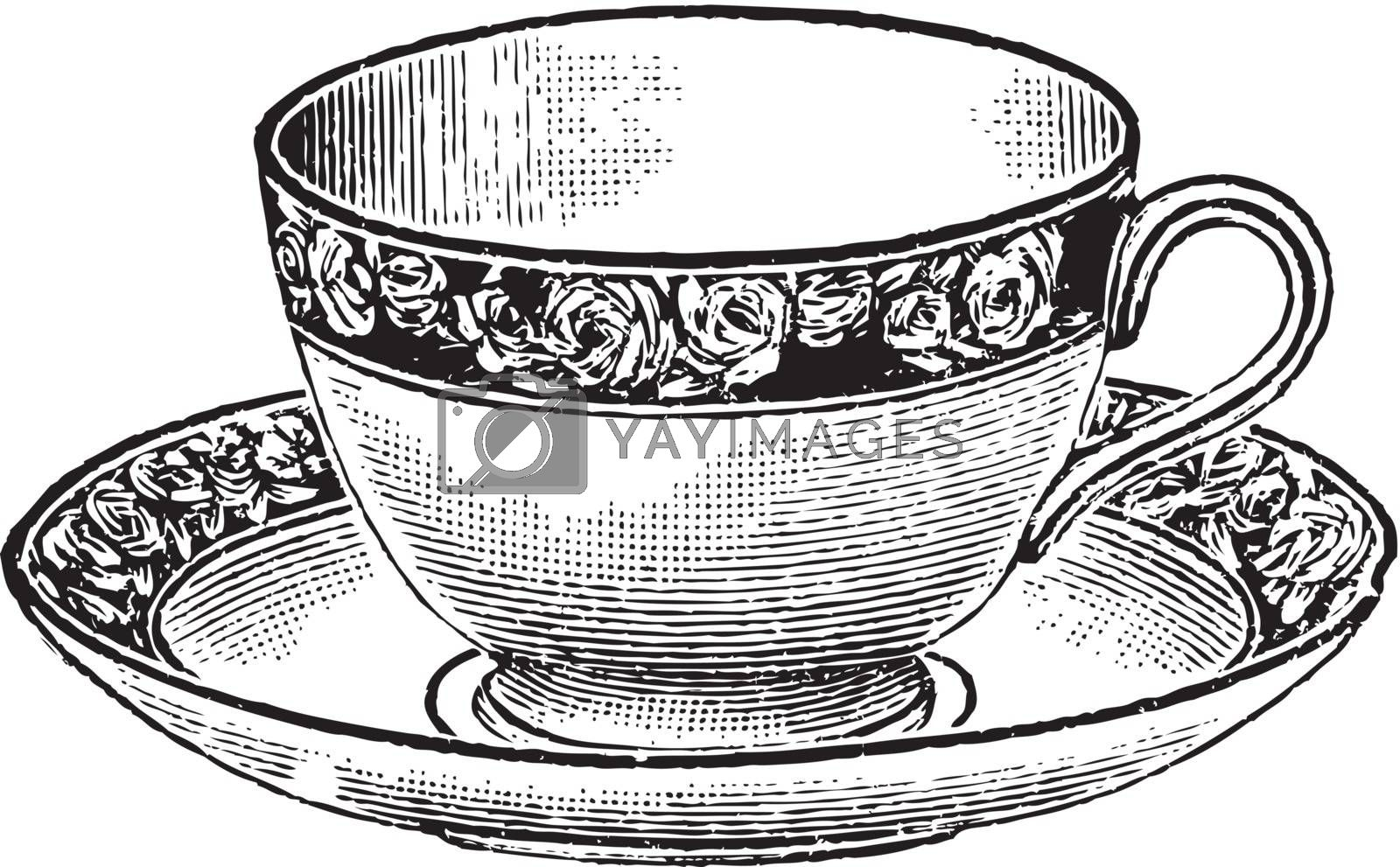 coffee cup icon, vector. by yurka