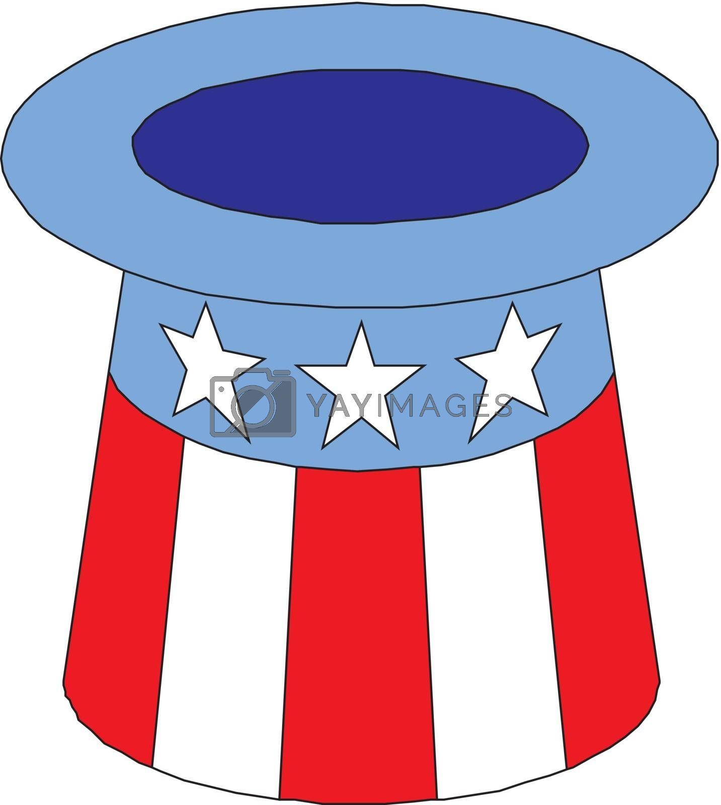 4 of July celebration hat icon.