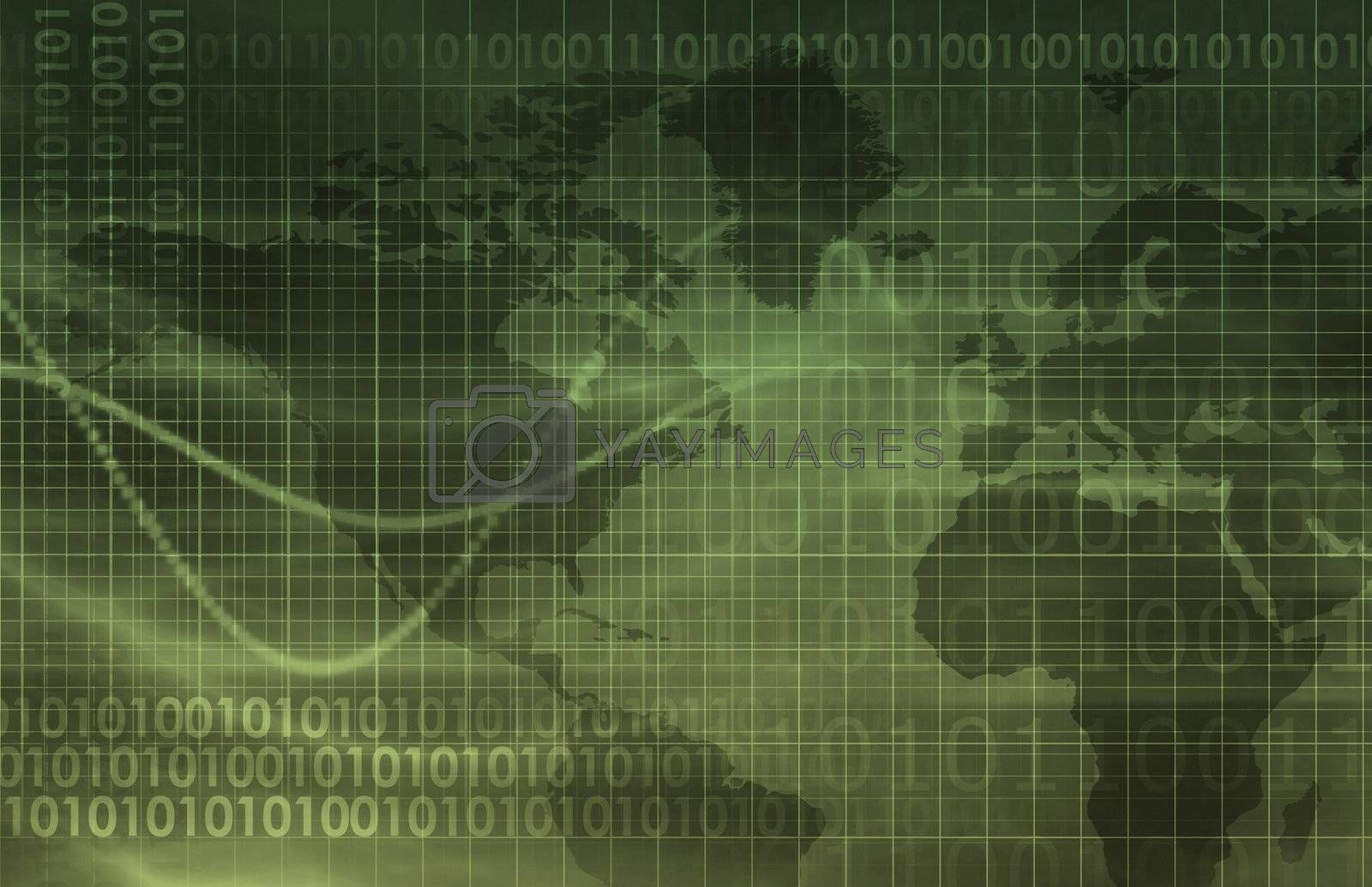 Technology Background Digital Energy as a Art